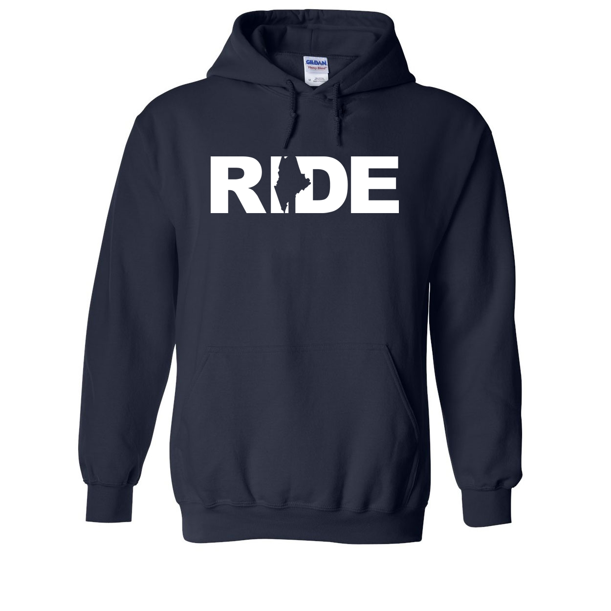 Ride Maine Classic Sweatshirt Navy (White Logo)