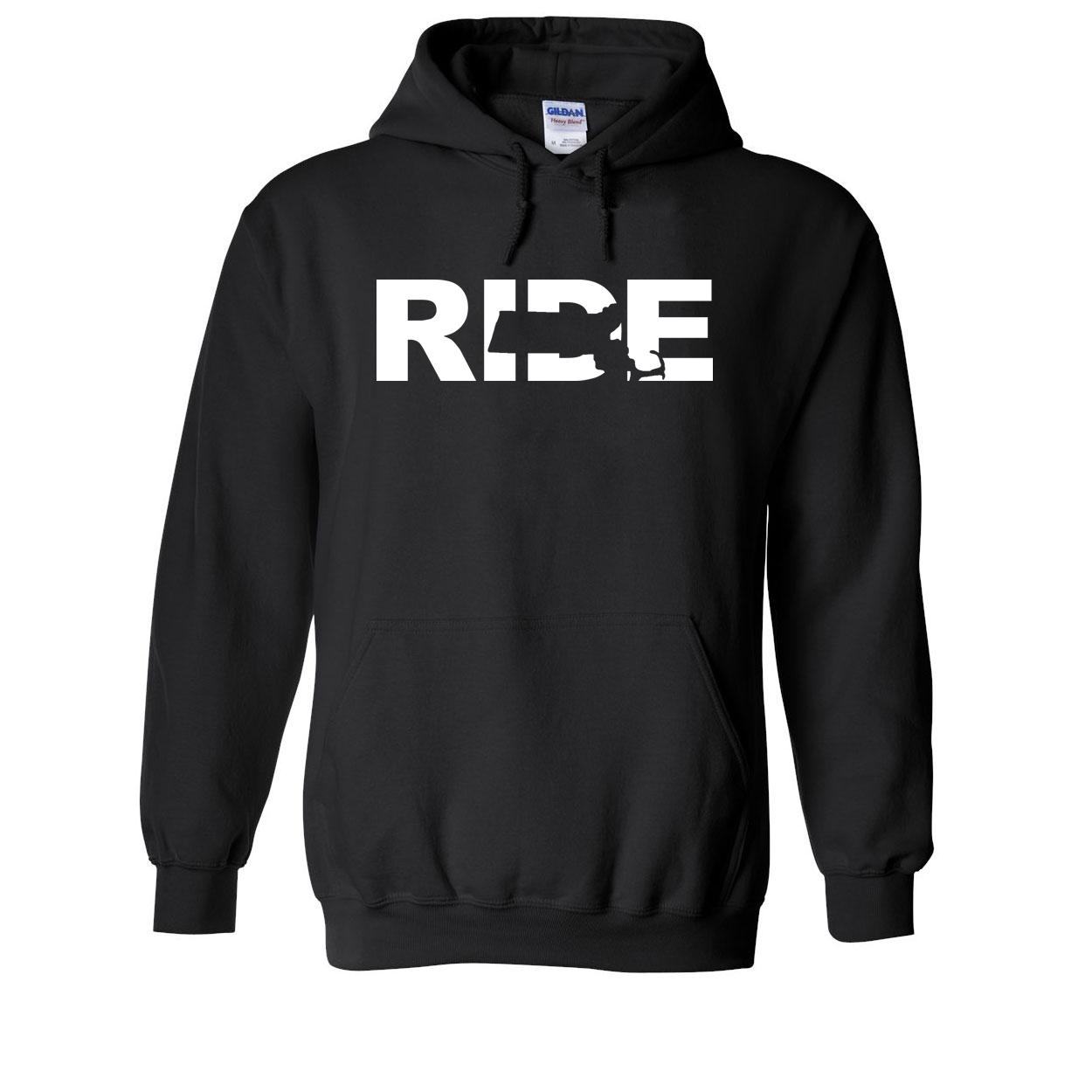 Ride Massachusetts Classic Sweatshirt Black (White Logo)