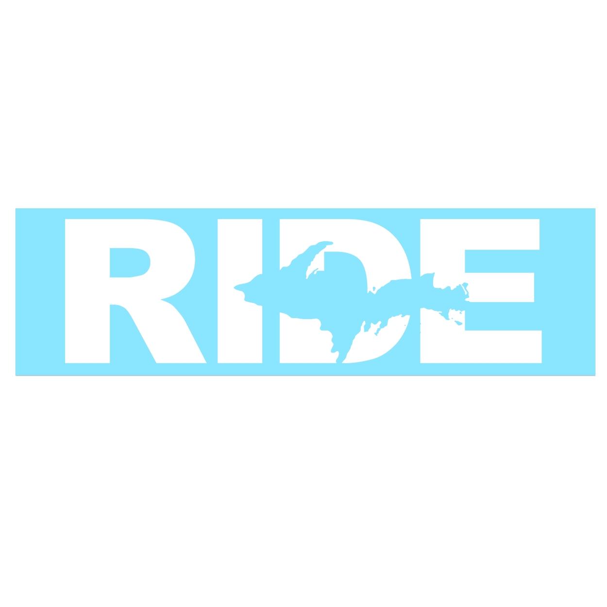 Ride Michigan UP Classic Decal (White Logo)