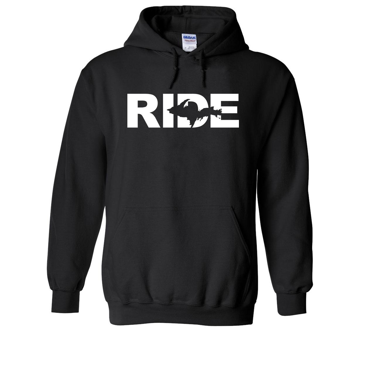 Ride Michigan UP Classic Sweatshirt Black (White Logo)