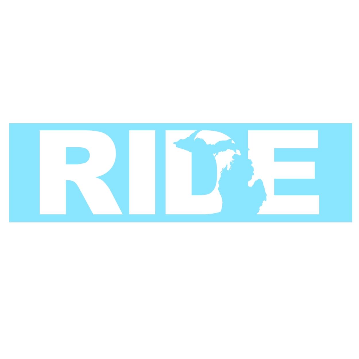 Ride Michigan Classic Decal (White Logo)