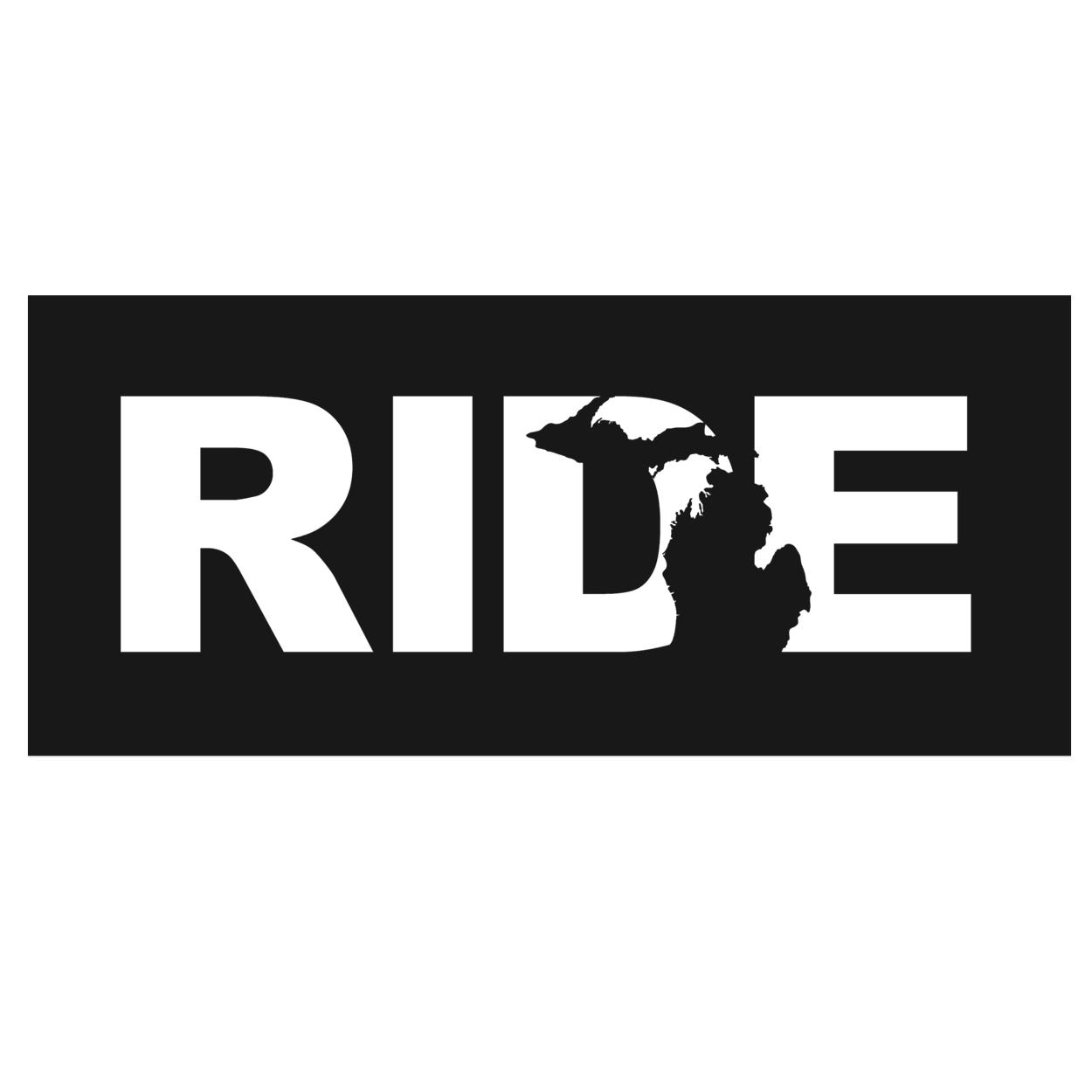 Ride Michigan Classic Hardboard Sign (White Logo)