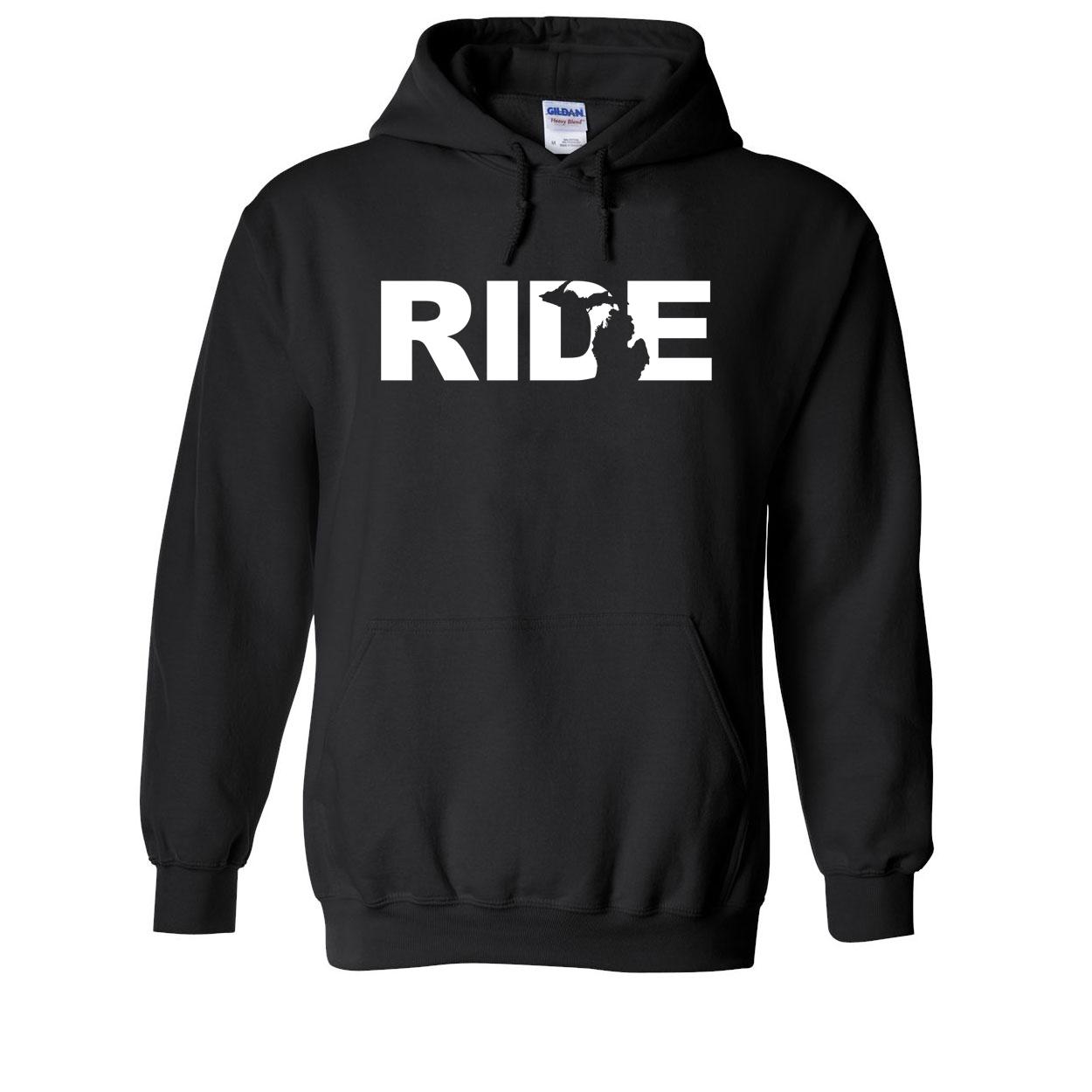 Ride Michigan Classic Sweatshirt Black (White Logo)