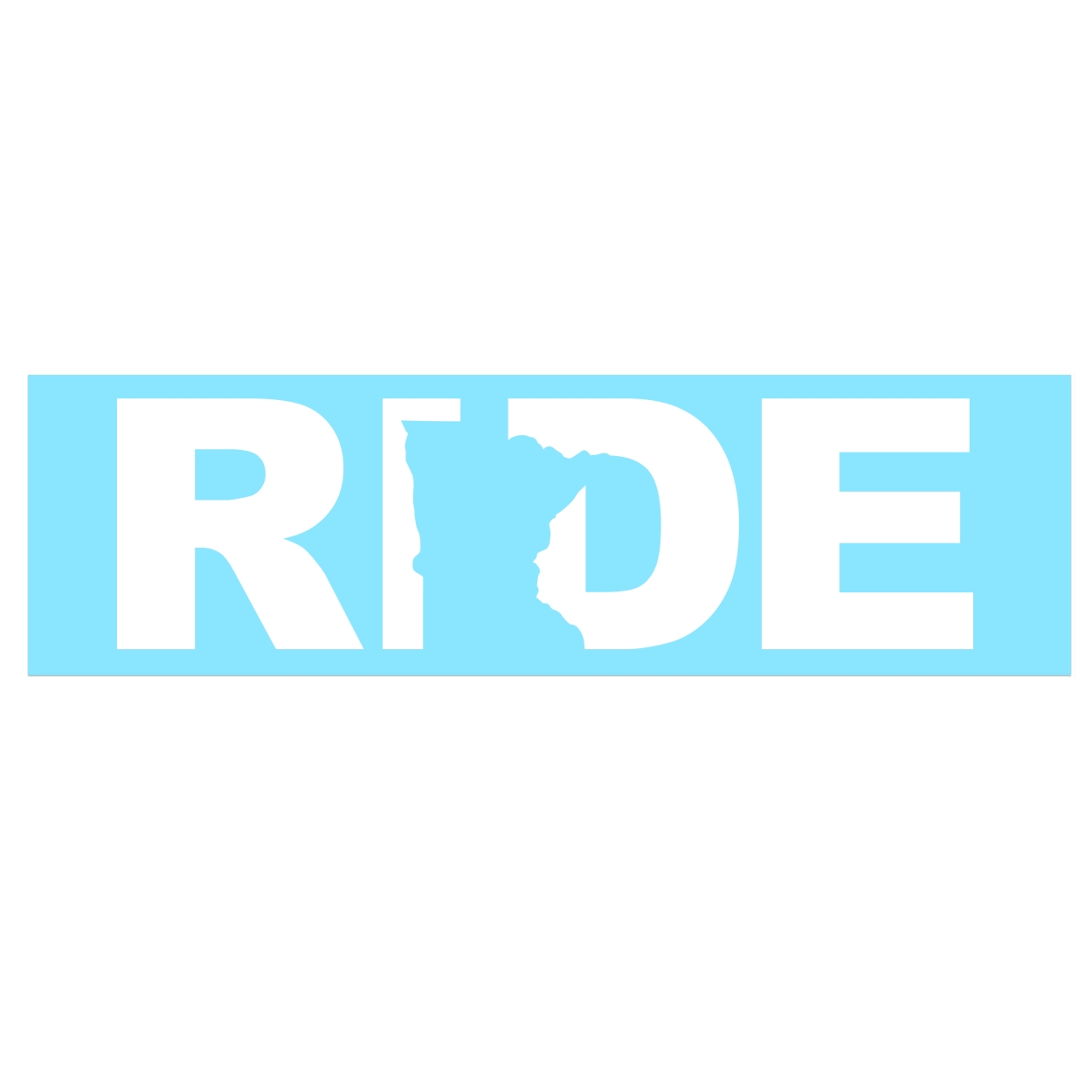 Ride Minnesota Classic Decal (White Logo)