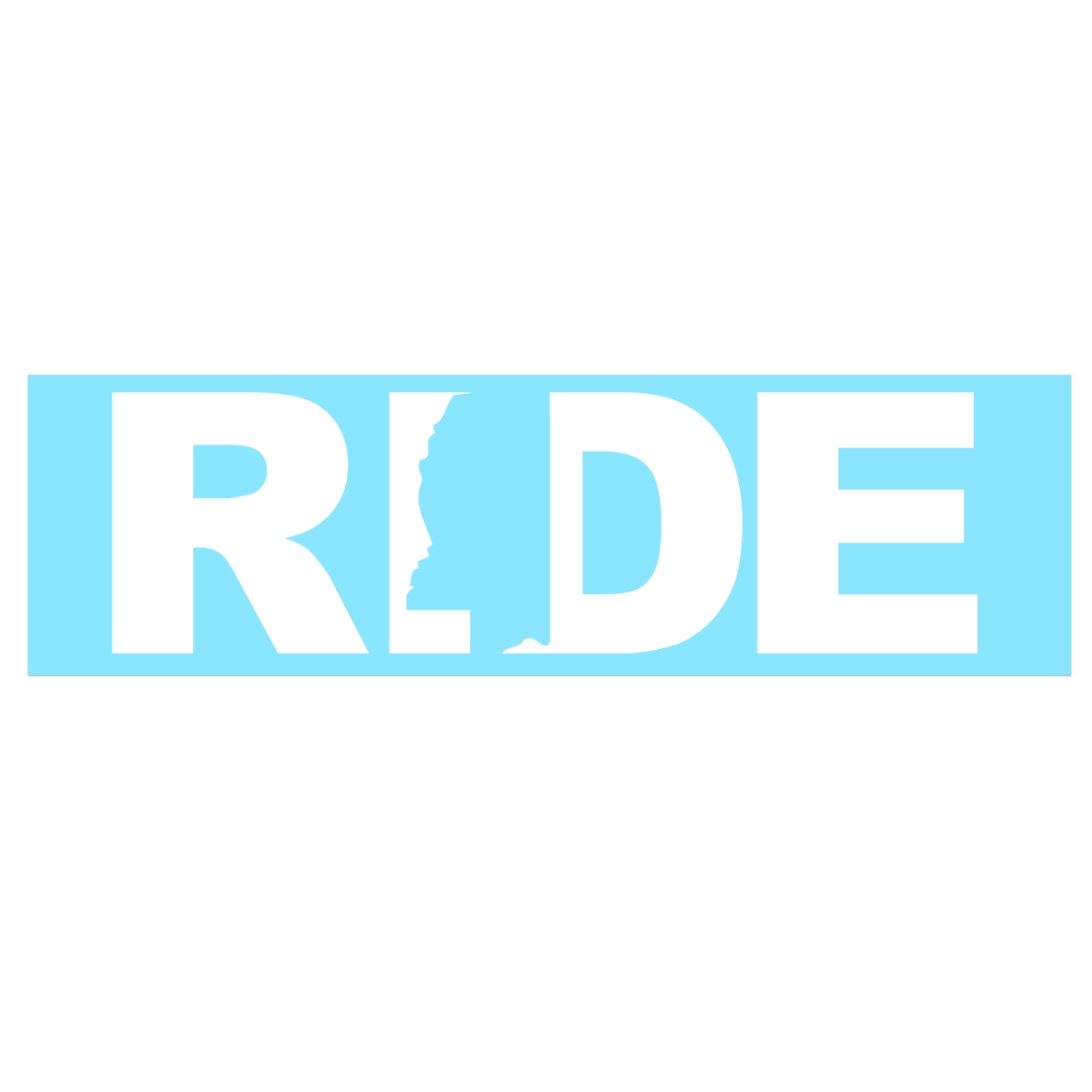 Ride Mississippi Classic Decal (White Logo)