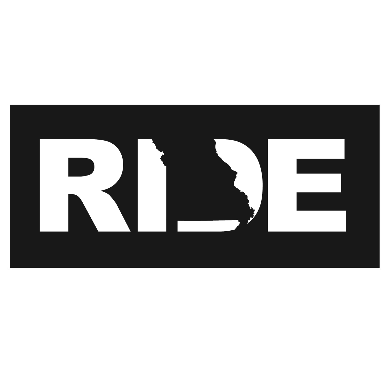 Ride Missouri Classic Hardboard Sign (White Logo)