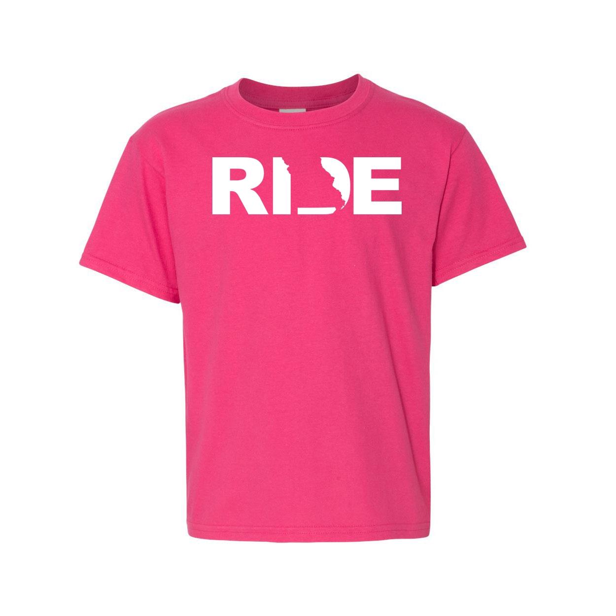 Ride Missouri Classic Youth T-Shirt Pink (White Logo)
