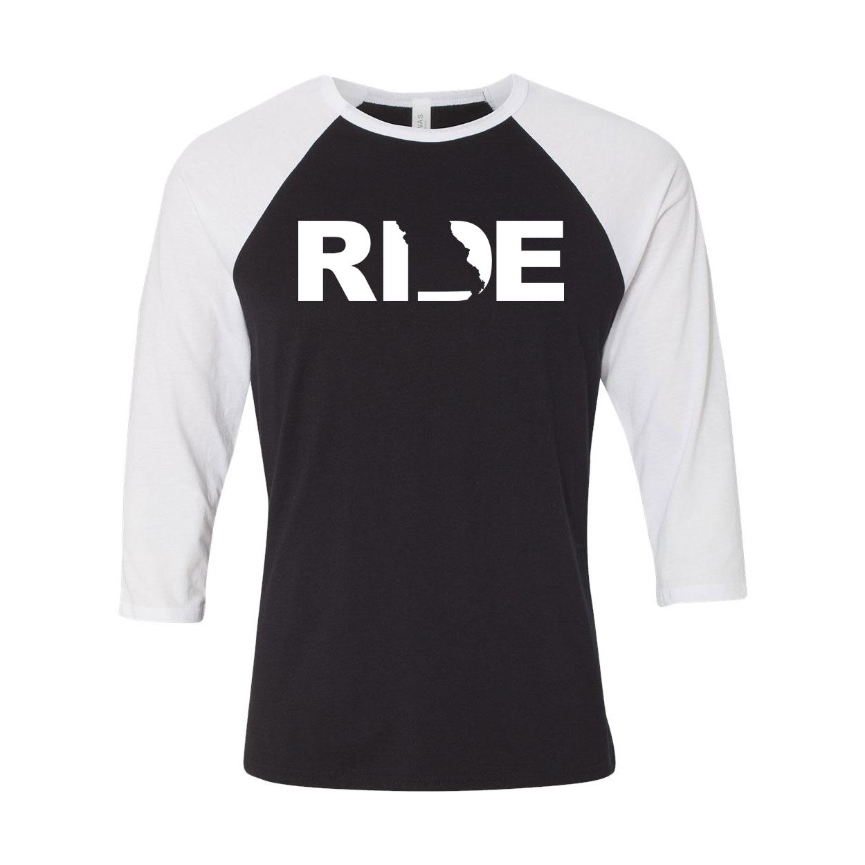 Ride Missouri Classic Raglan Shirt Black/White (White Logo)