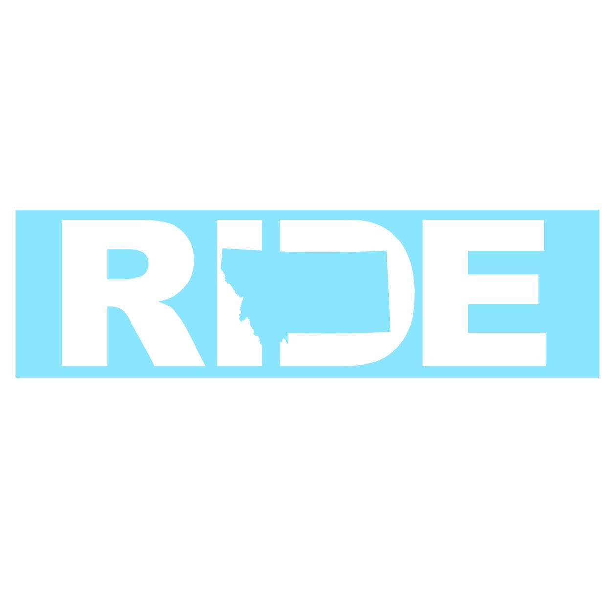Ride Montana Classic Decal (White Logo)
