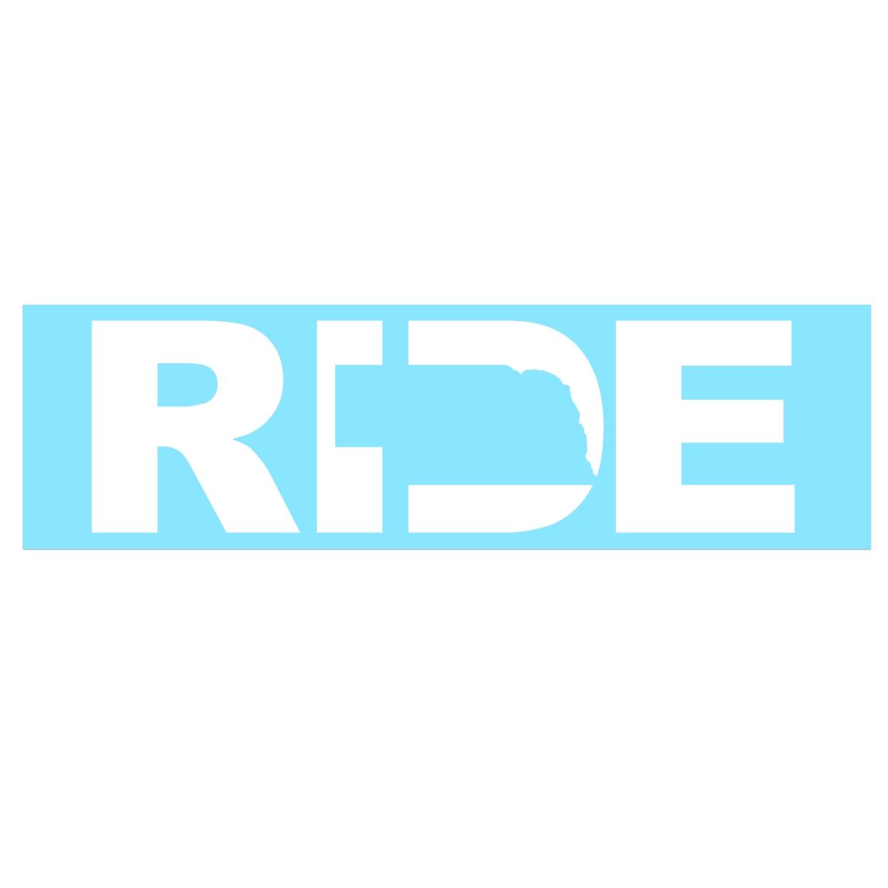 Ride Nebraska Classic Decal (White Logo)