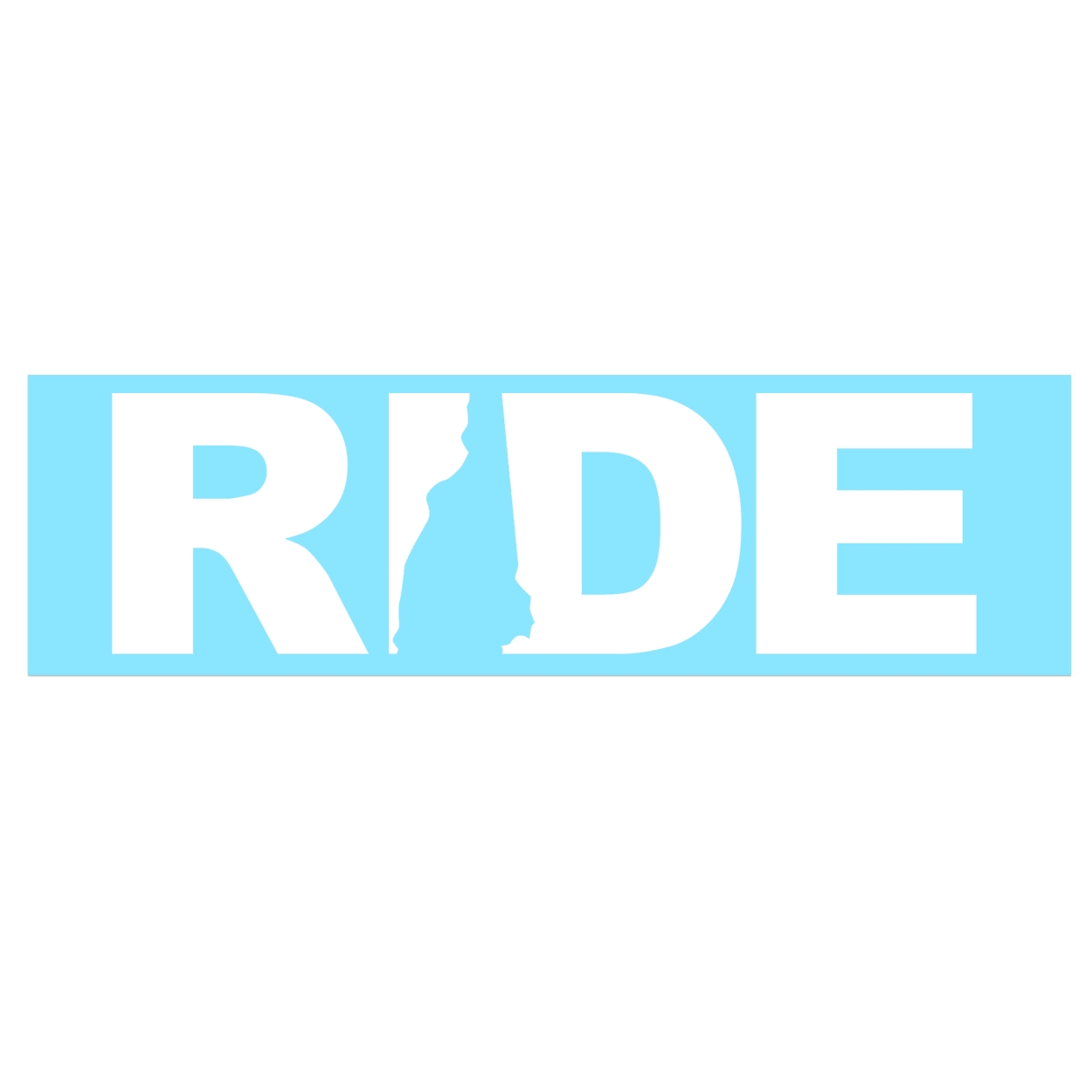 Ride New Hampshire Classic Decal (White Logo)
