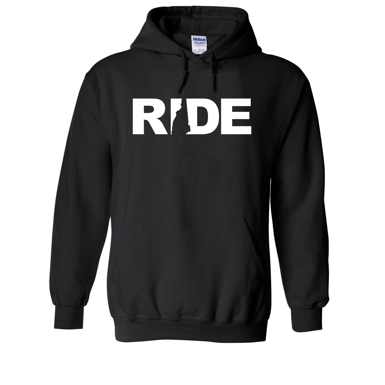 Ride New Hampshire Classic Sweatshirt Black (White Logo)