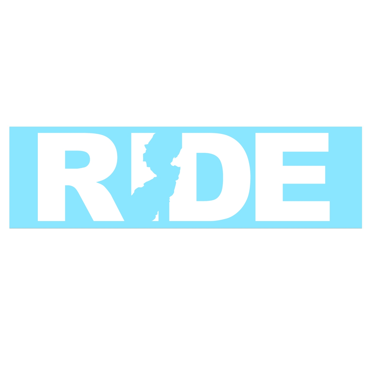 Ride New Jersey Classic Decal (White Logo)