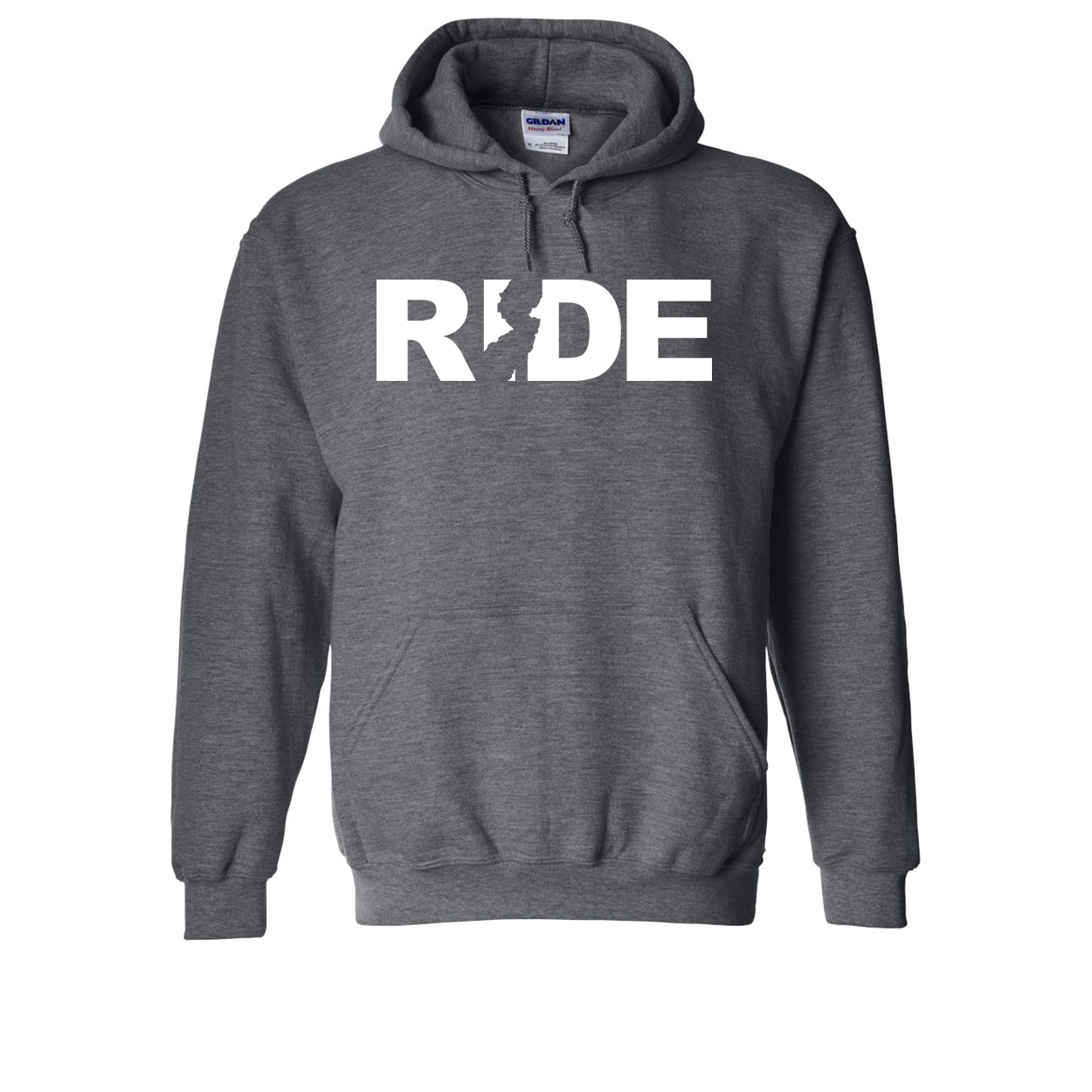 Ride New Jersey Classic Sweatshirt Dark Heather Gray (White Logo)