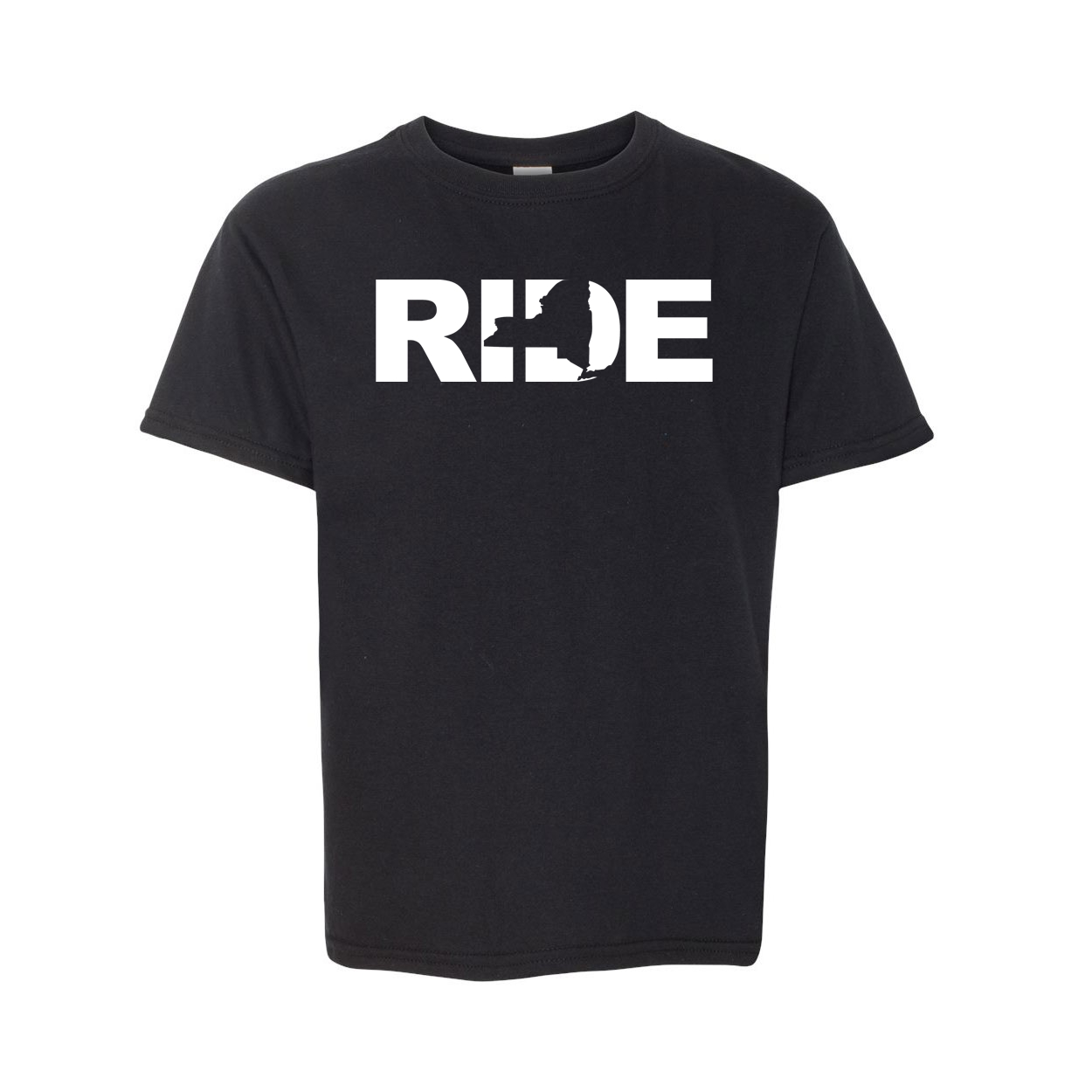 Ride New York Classic Youth T-Shirt Black (White Logo)