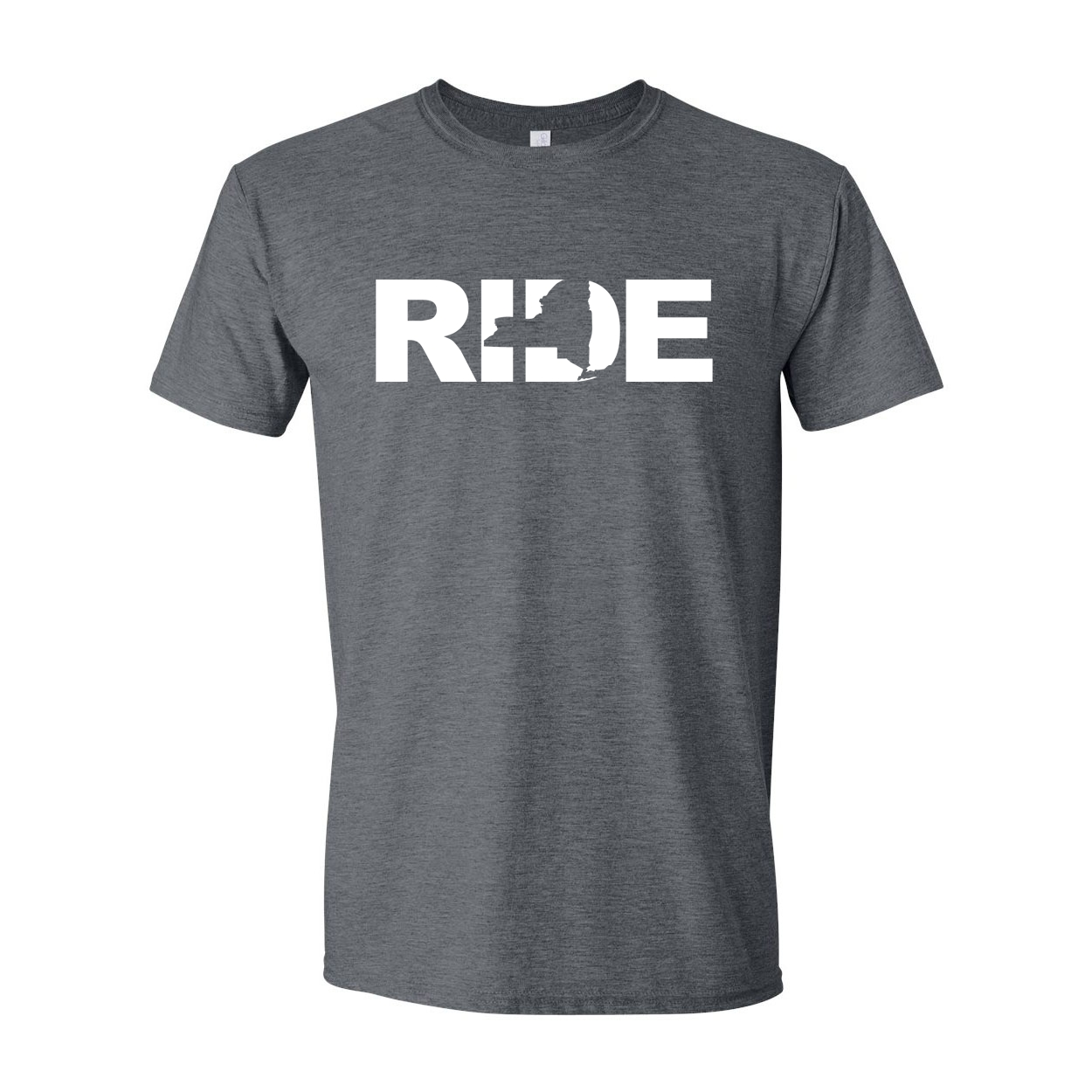 Ride New York Classic T-Shirt Dark Heather Gray (White Logo)