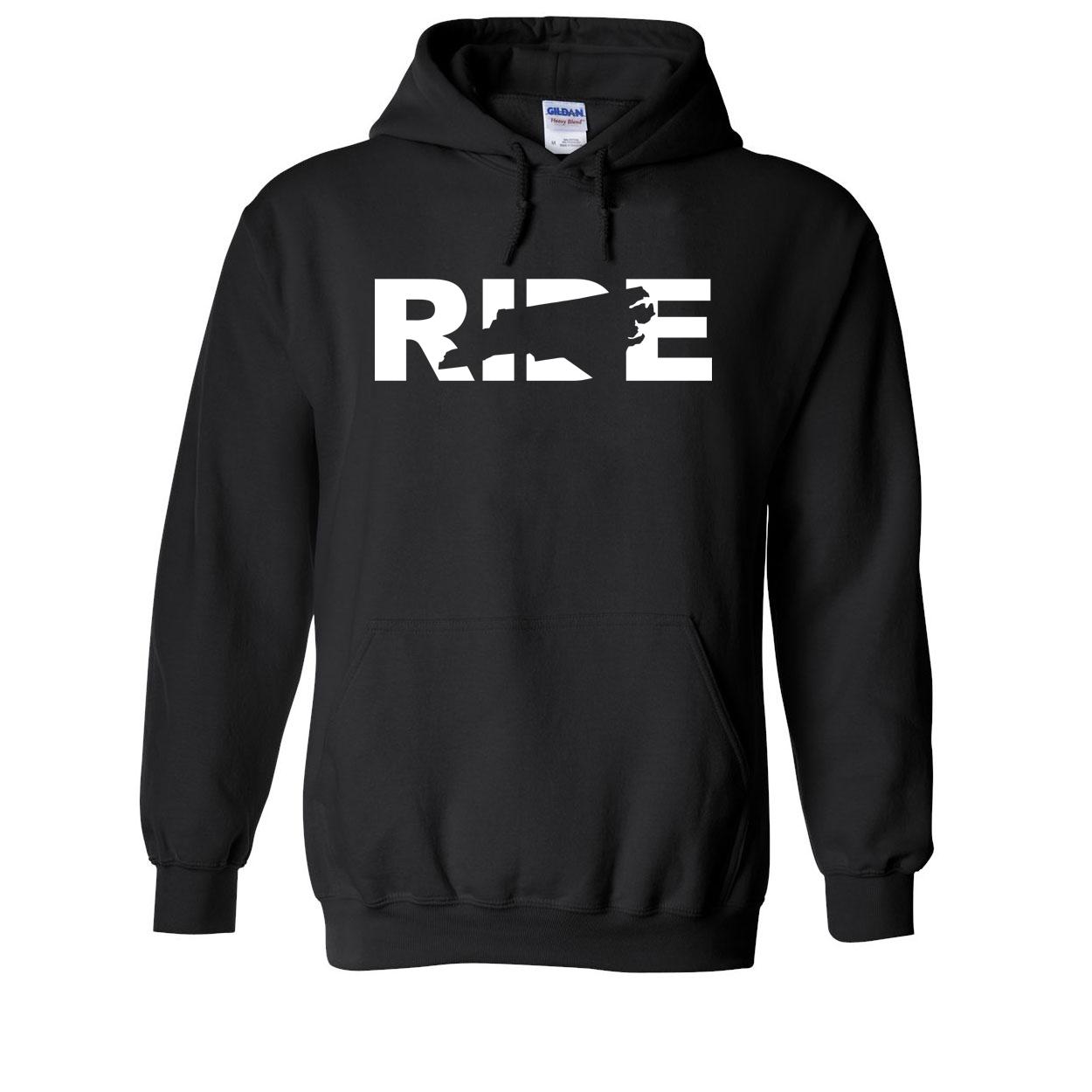 Ride North Carolina Classic Sweatshirt Black (White Logo)