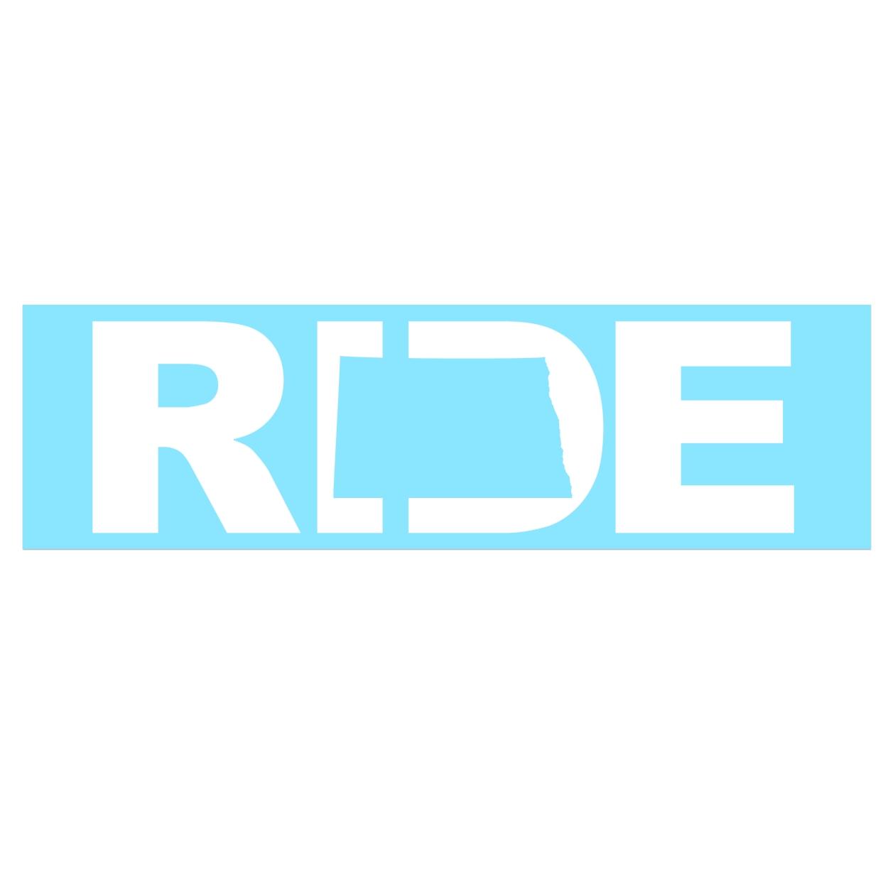 Ride North Dakota Classic Decal (White Logo)