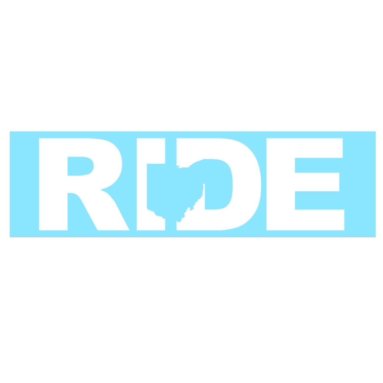 Ride Ohio Classic Decal (White Logo)