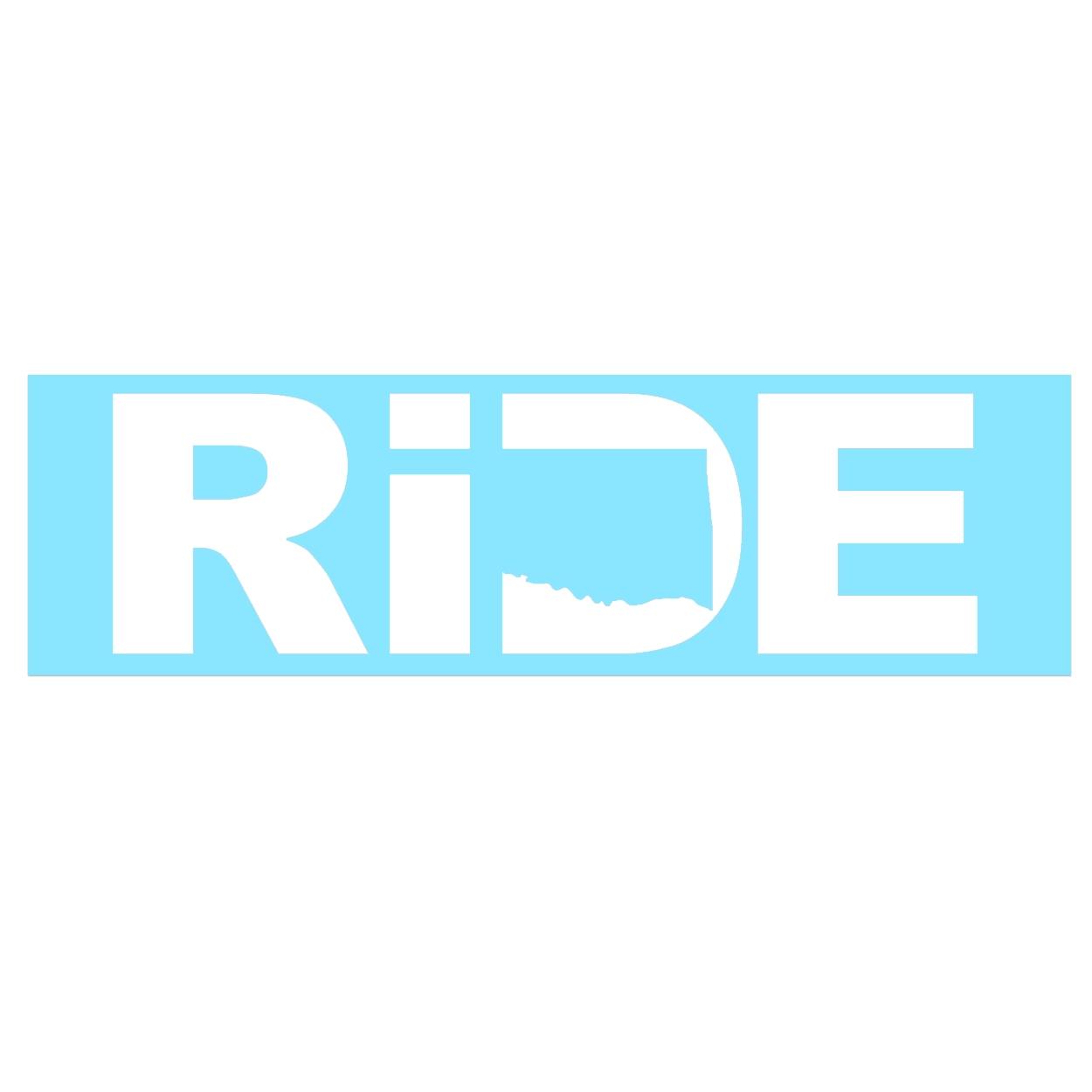 Ride Oklahoma Classic Decal (White Logo)