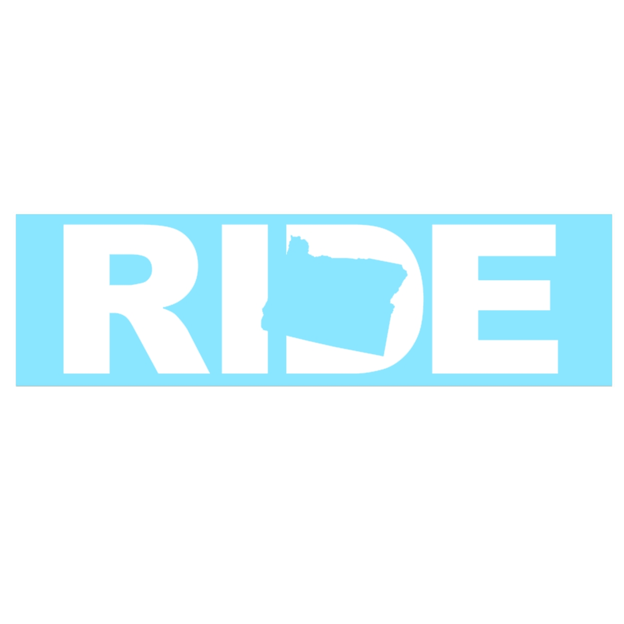 Ride Oregon Classic Decal (White Logo)
