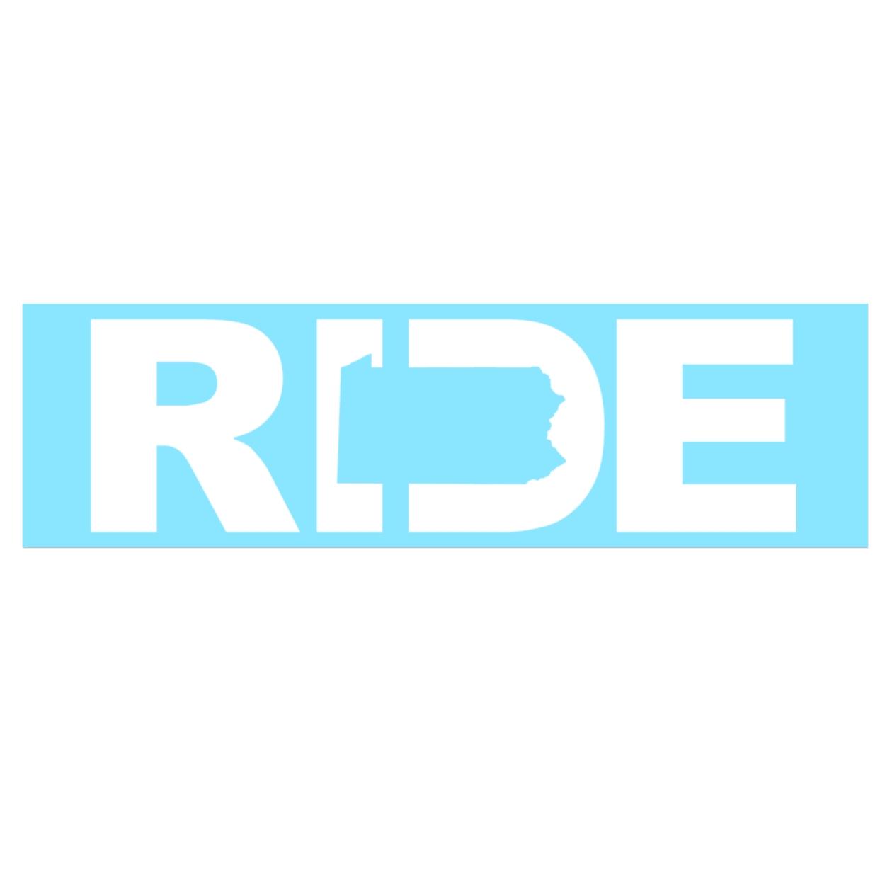 Ride Pennsylvania Classic Decal (White Logo)