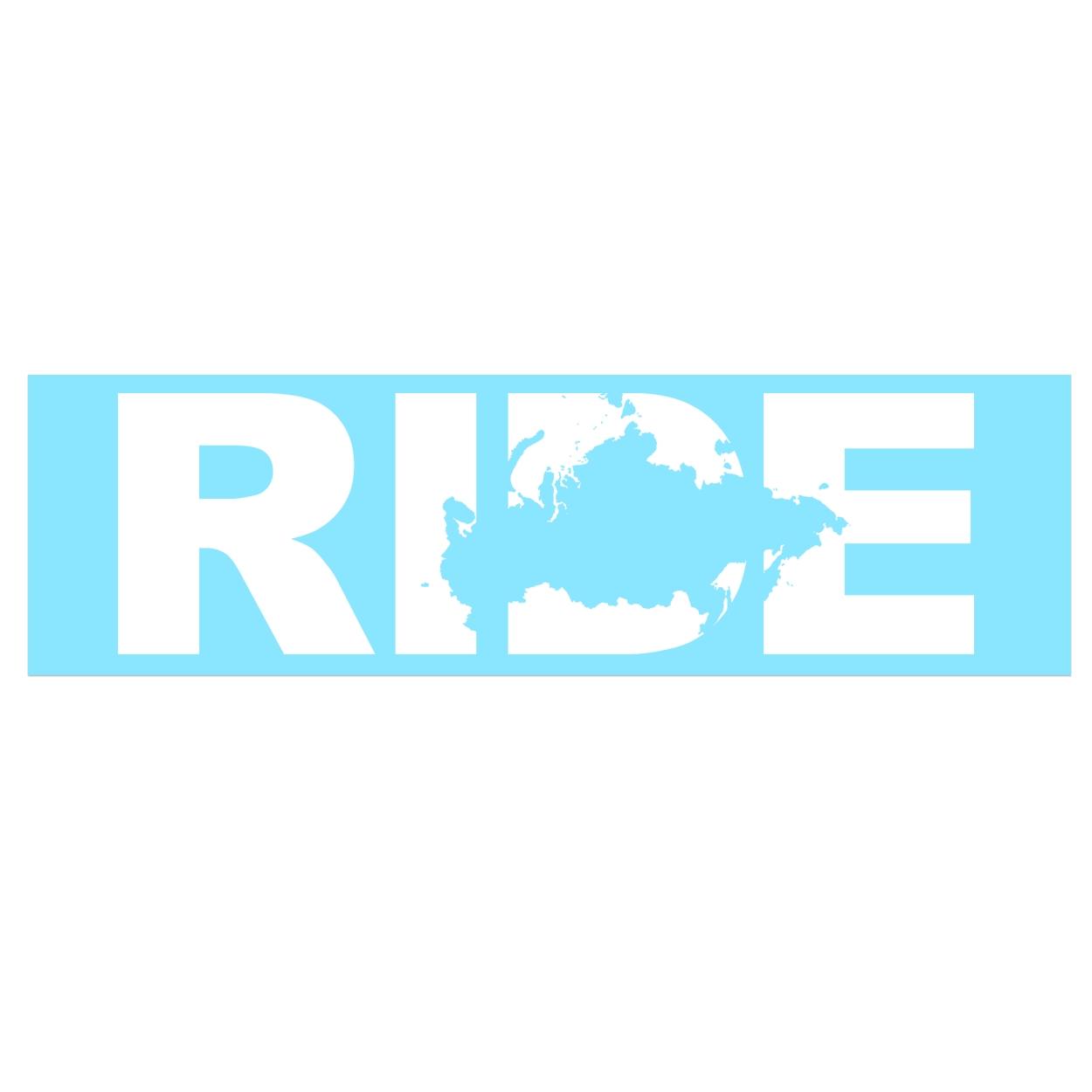 Ride Russia Classic Decal (White Logo)