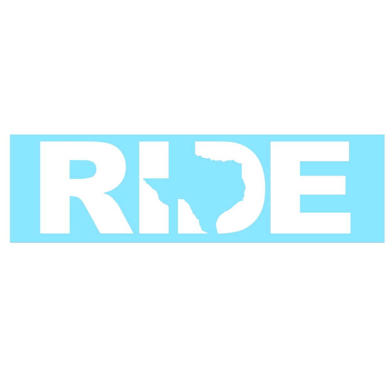 Ride Texas Classic Decal (White Logo)