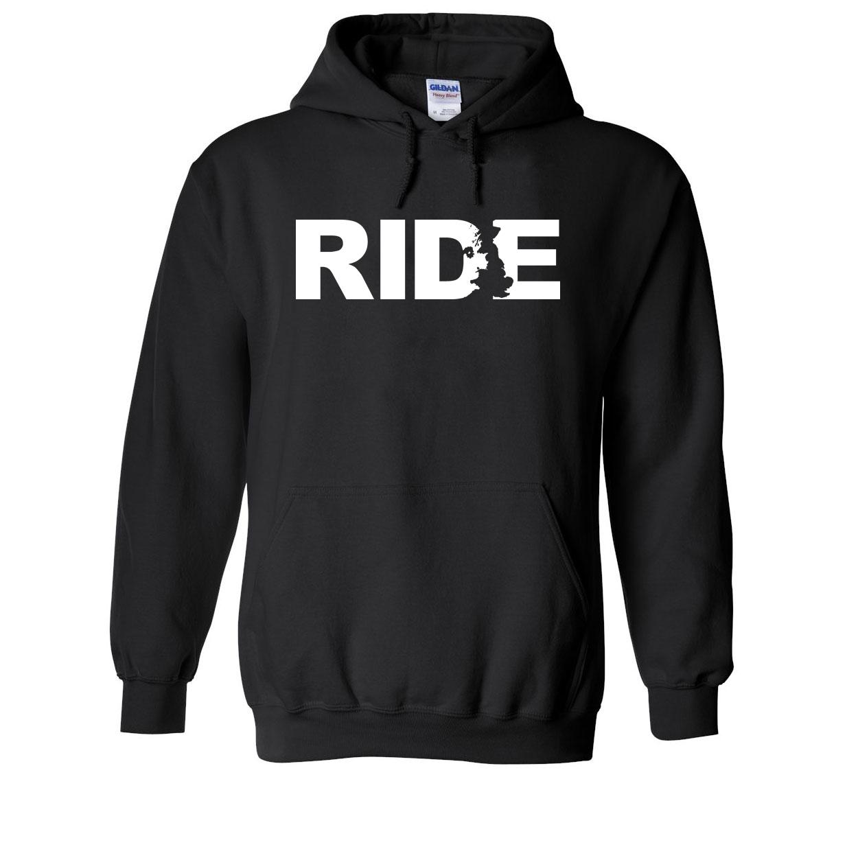 Ride United Kingdom Classic Sweatshirt Black (White Logo)