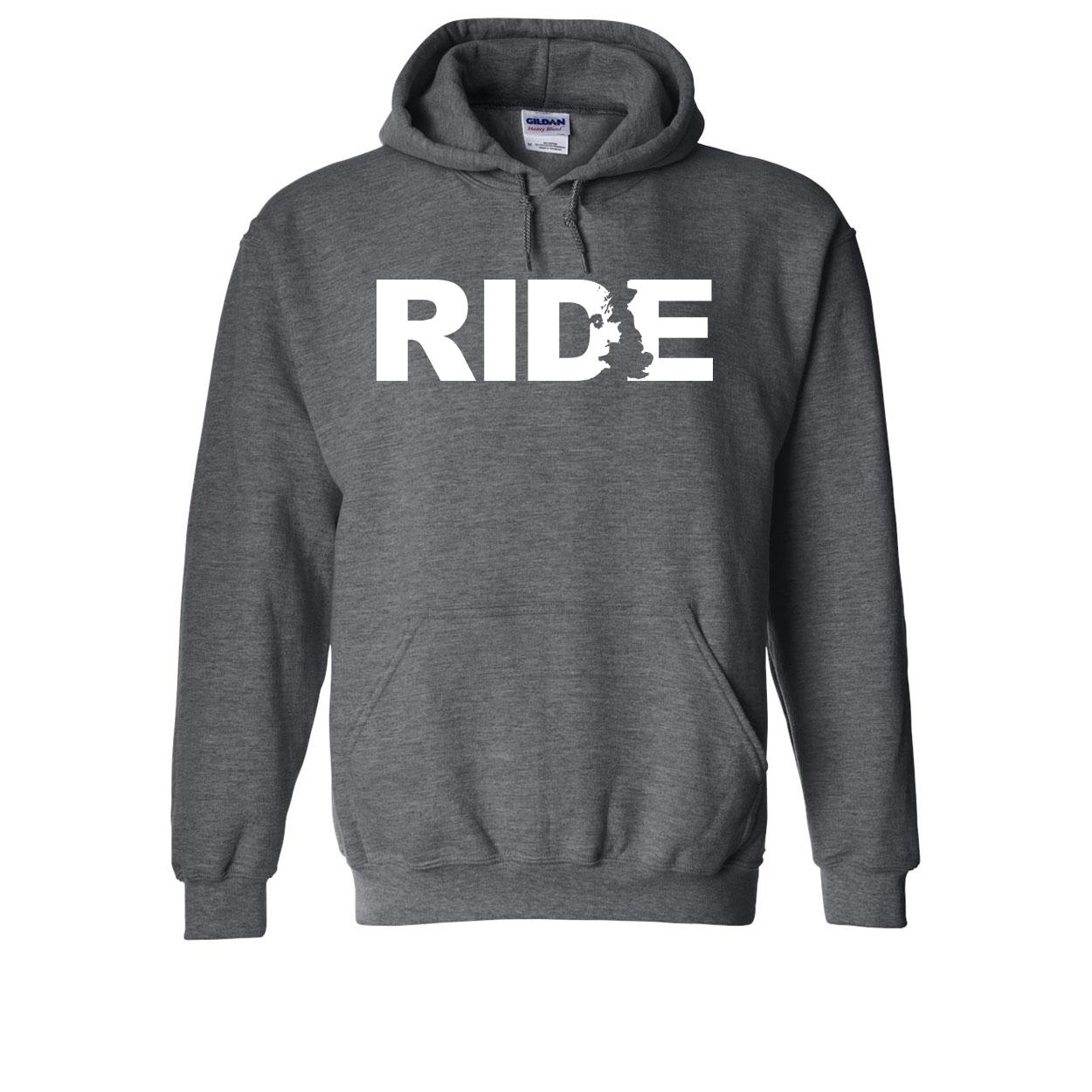 Ride United Kingdom Classic Sweatshirt Dark Heather Gray (White Logo)