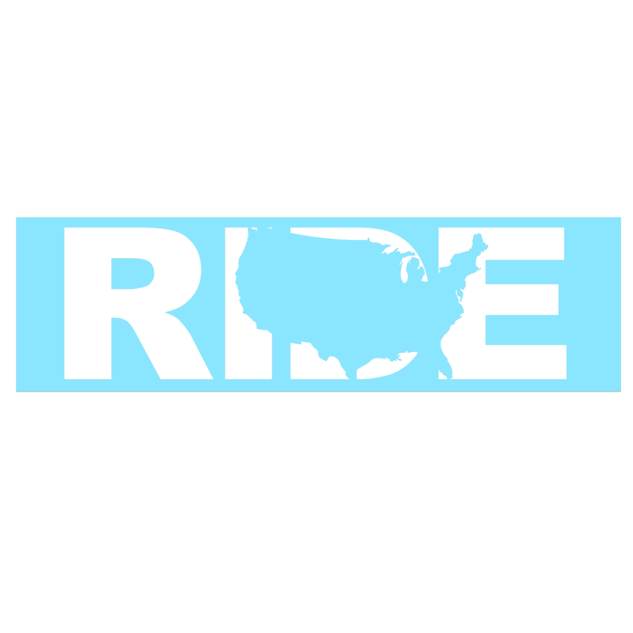 Ride United States Classic Decal (White Logo)