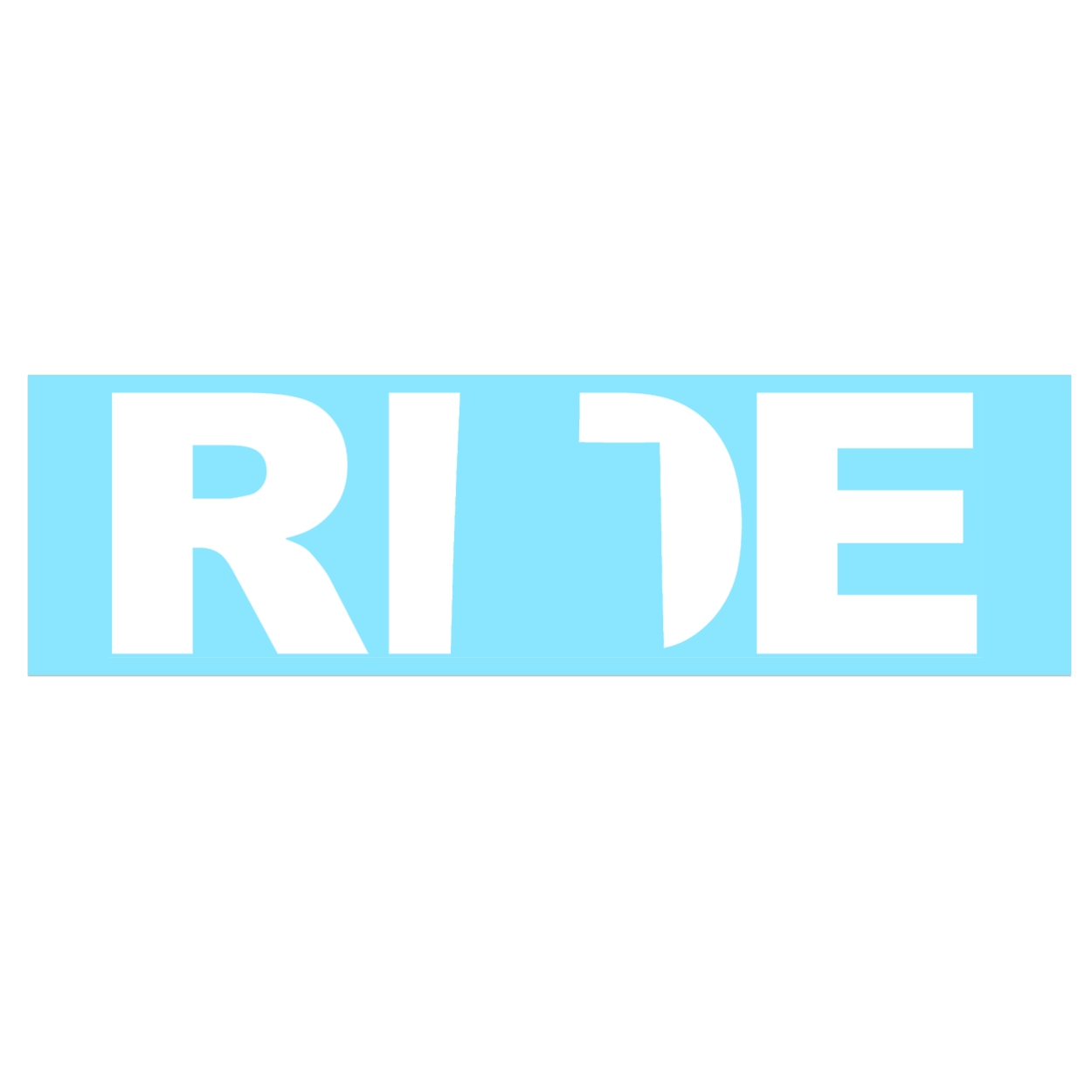 Ride Utah Classic Decal (White Logo)
