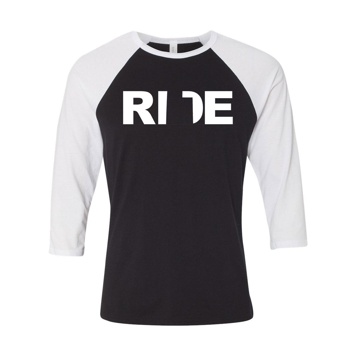 Ride Utah Classic Raglan Shirt Black/White (White Logo)