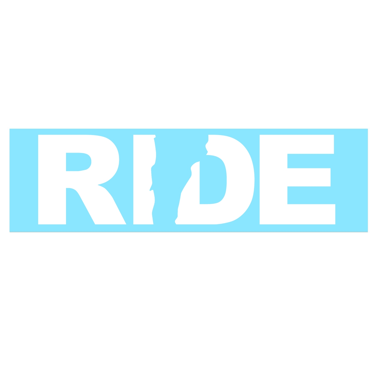 Ride Vermont Classic Decal (White Logo)