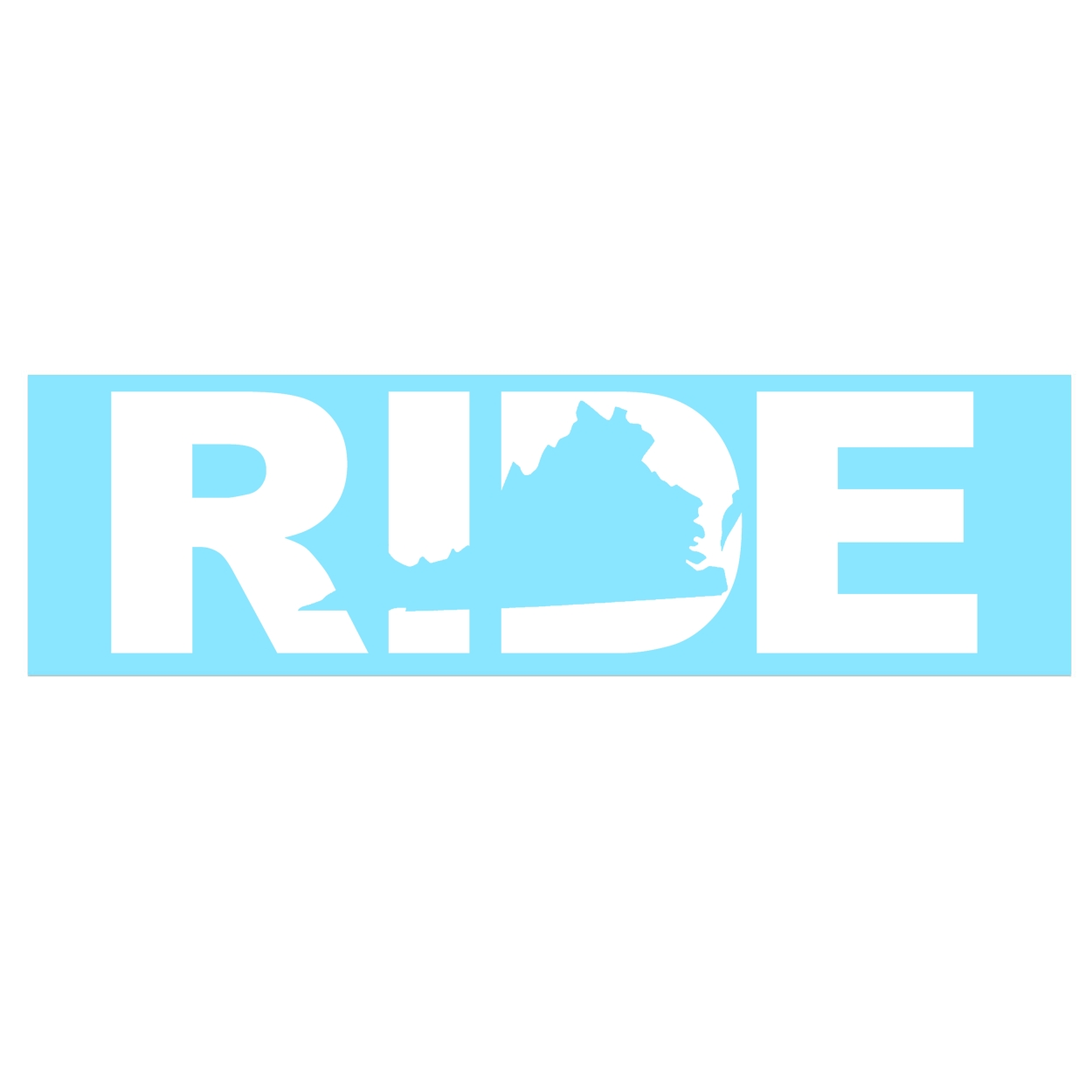 Ride Virginia Classic Decal (White Logo)