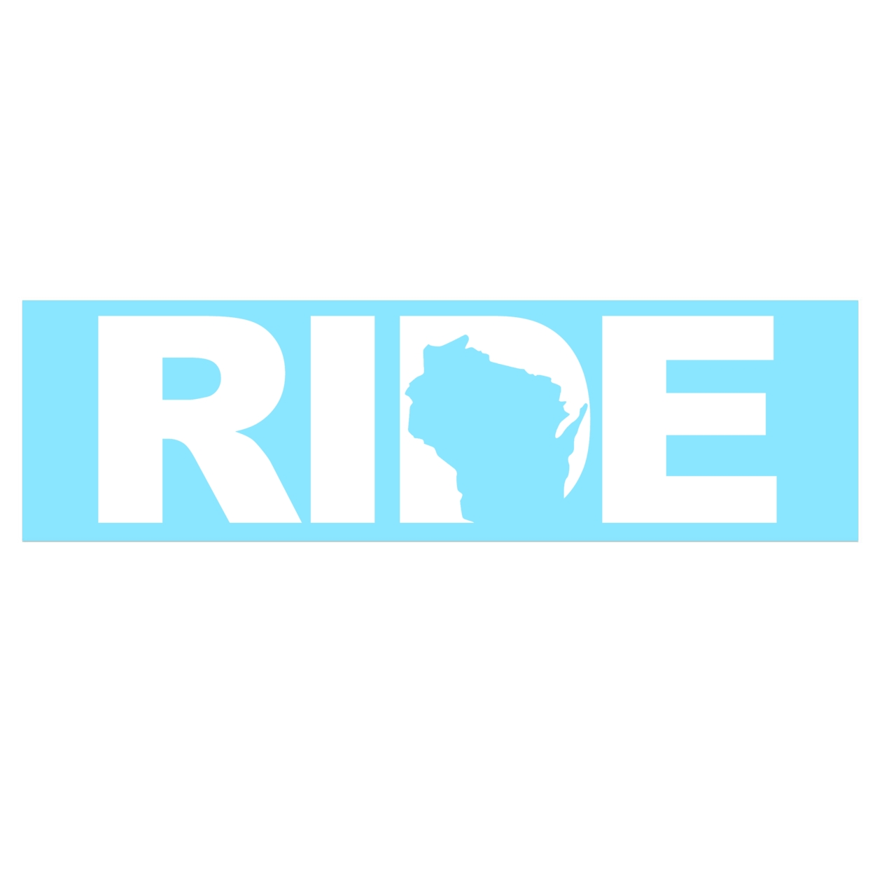 Ride Wisconsin Classic Decal (White Logo)