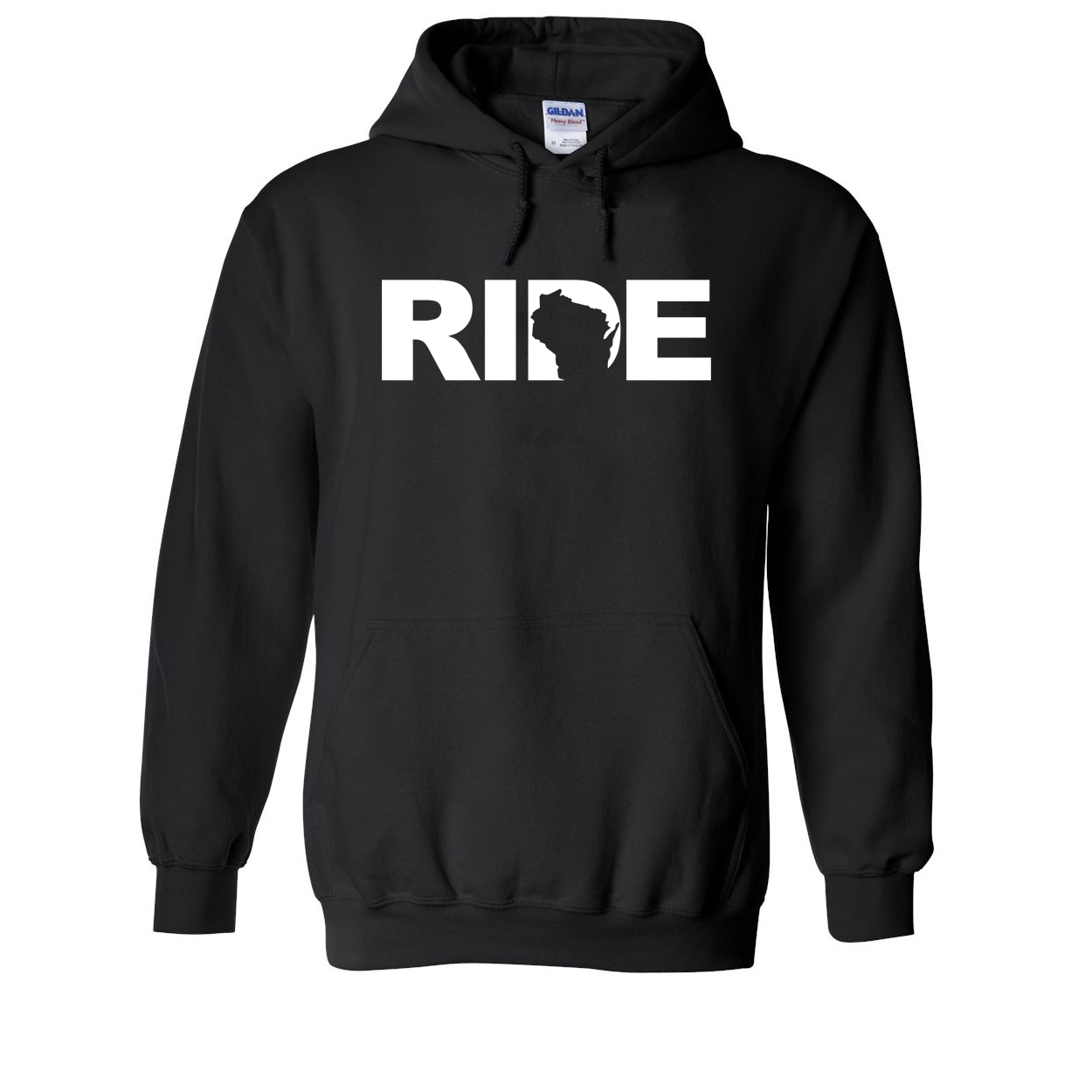 Ride Wisconsin Classic Sweatshirt Black (White Logo)