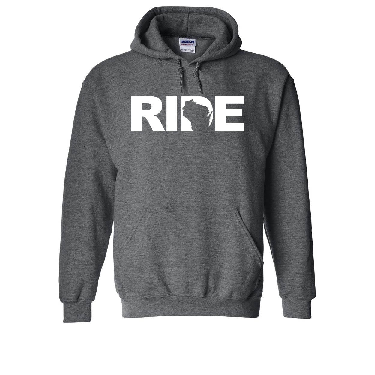 Ride Wisconsin Classic Sweatshirt Dark Heather Gray (White Logo)