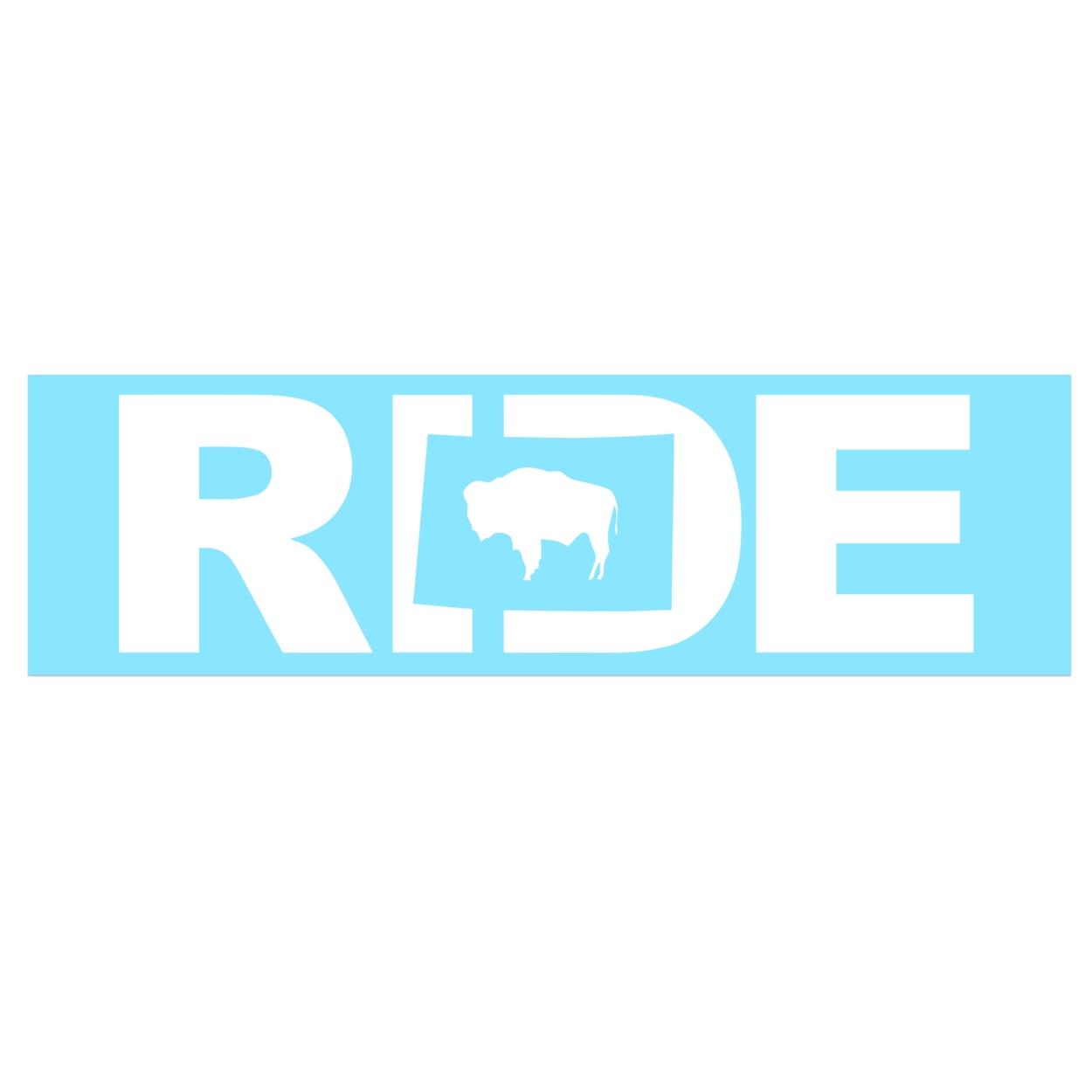 Ride Wyoming Classic Decal (White Logo)