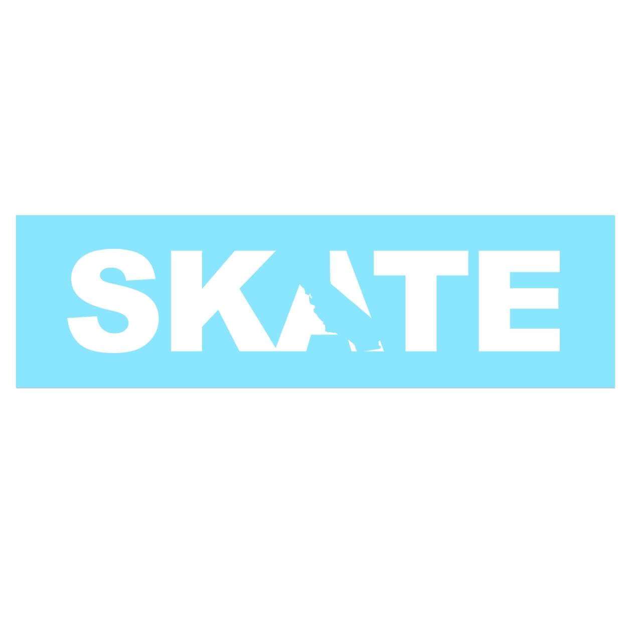 Skate California Classic Decal (White Logo)