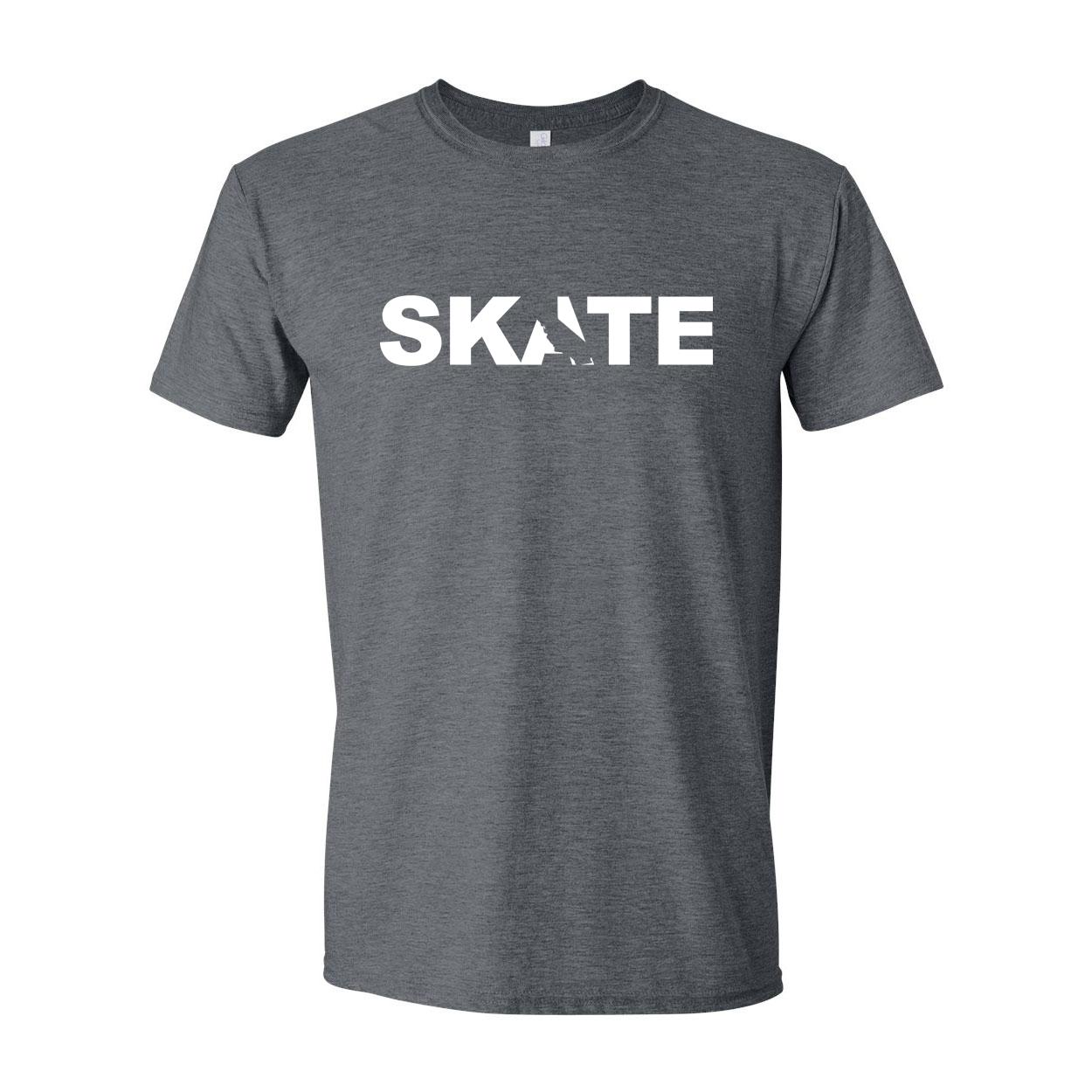 Skate California Classic T-Shirt Dark Heather Gray (White Logo)