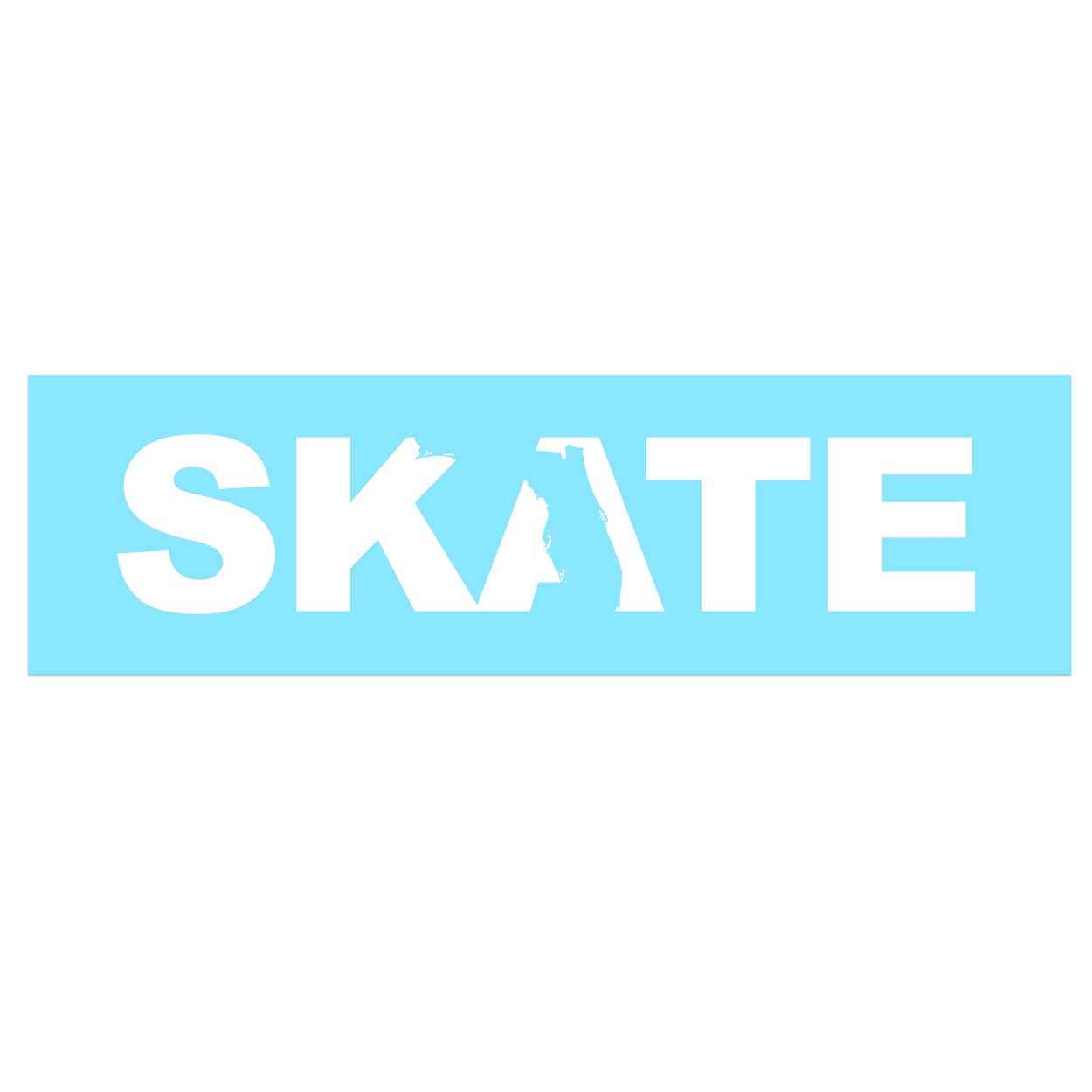 Skate Florida Classic Decal (White Logo)
