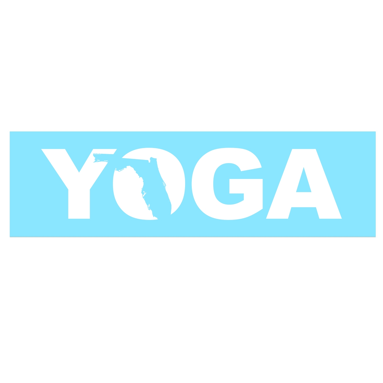Yoga Florida Classic Decal (White Logo)