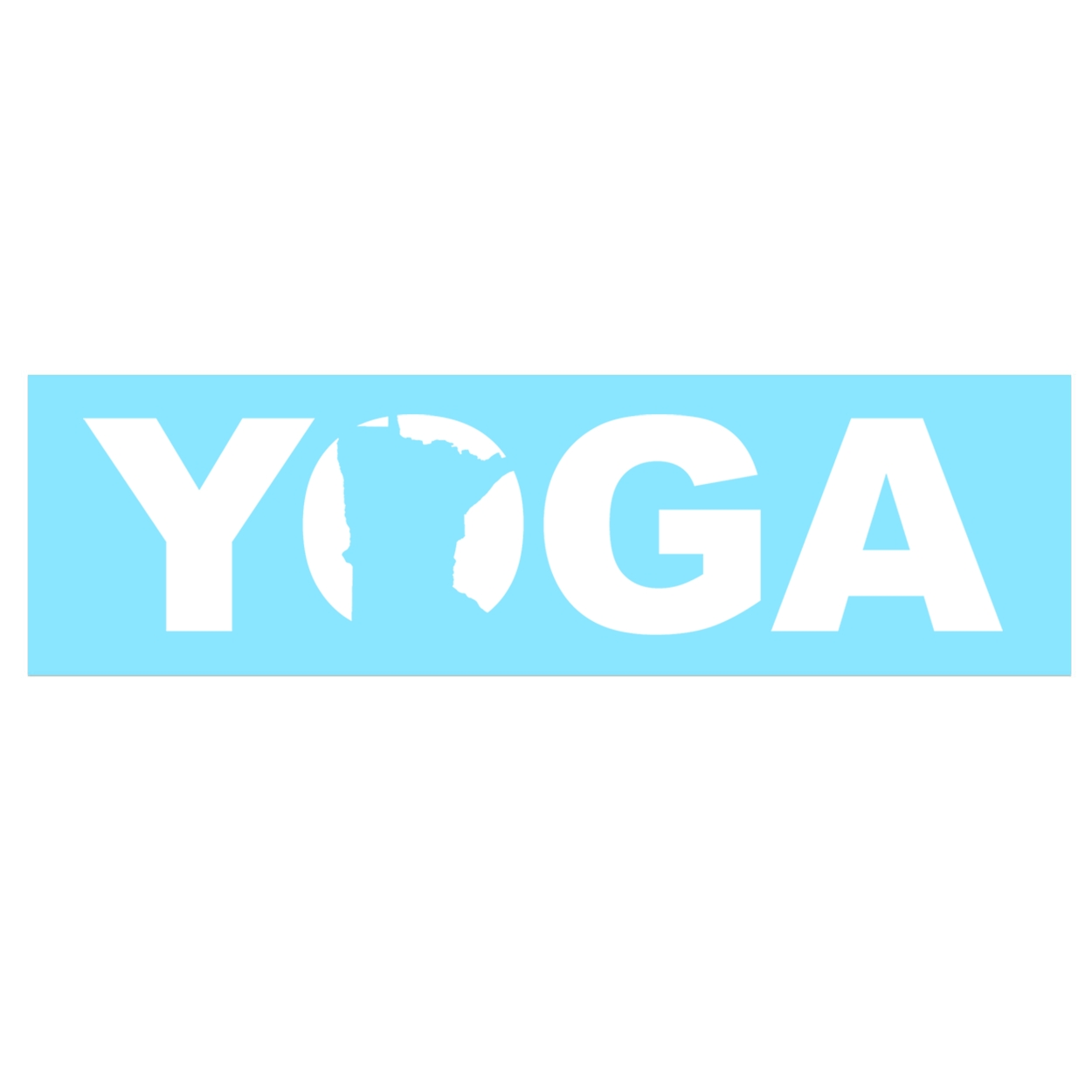 Yoga Minnesota Classic Decal (White Logo)