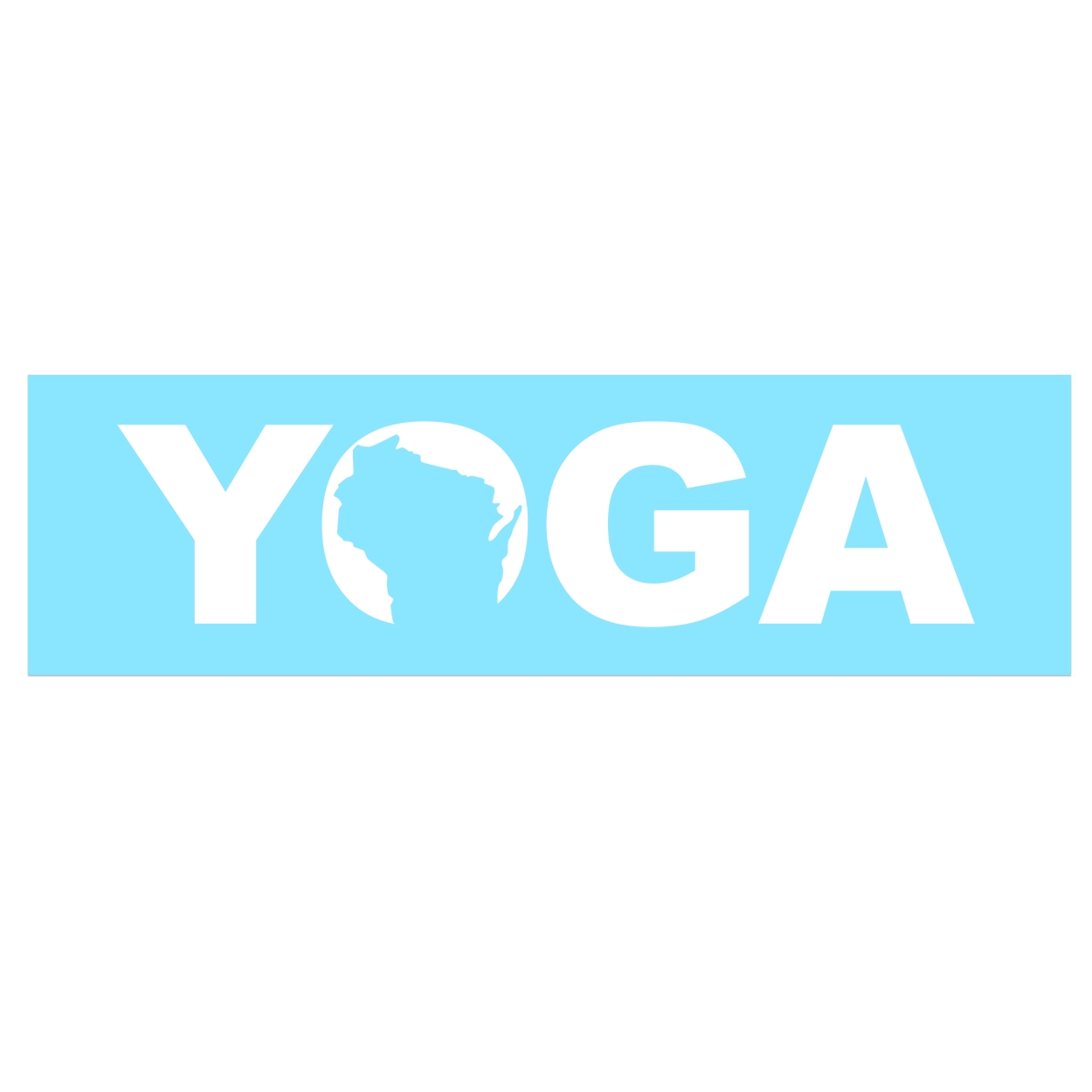 Yoga Wisconsin Classic Decal (White Logo)