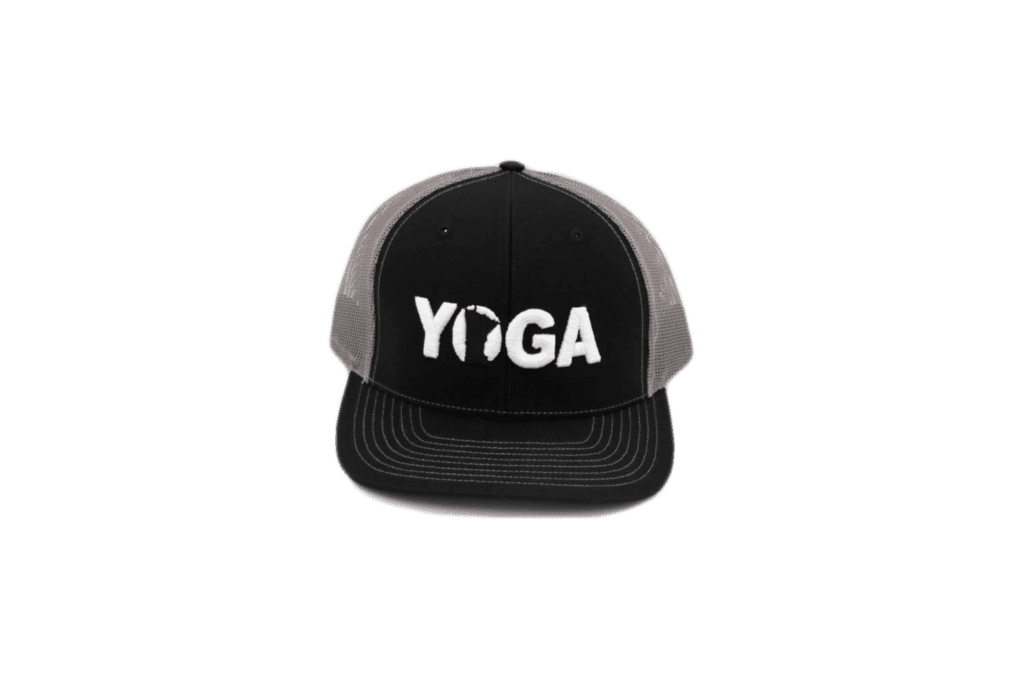 Yoga Minnesota Classic Embroidered Snapback Trucker Hat Black/White