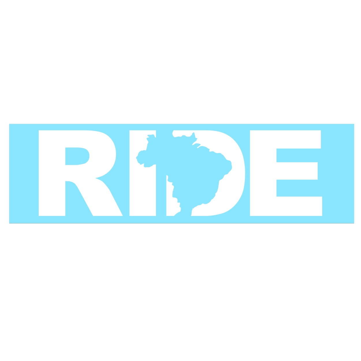 Ride Brazil Classic Decal (White Logo)