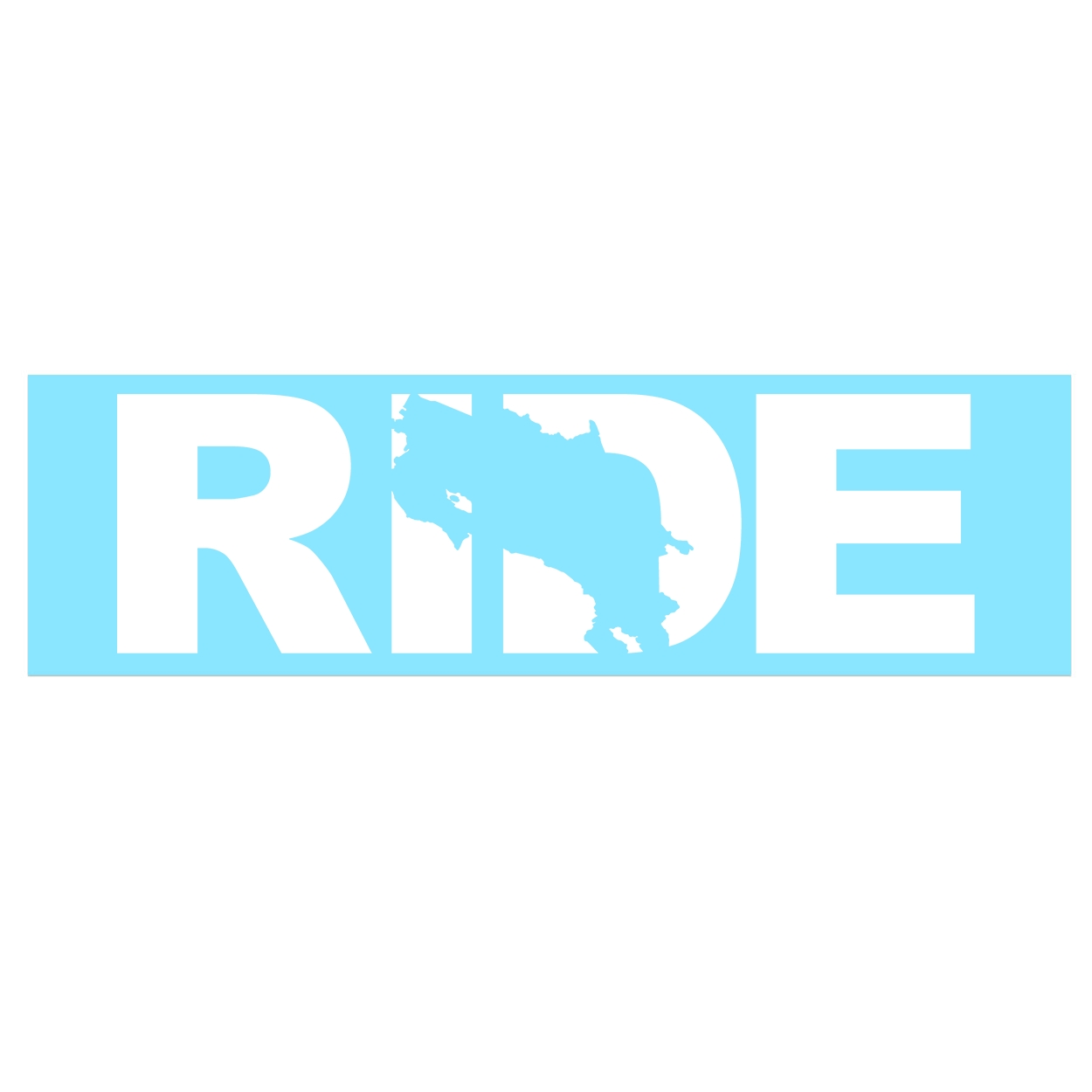 Ride Costa Rica Classic Decal (White Logo)