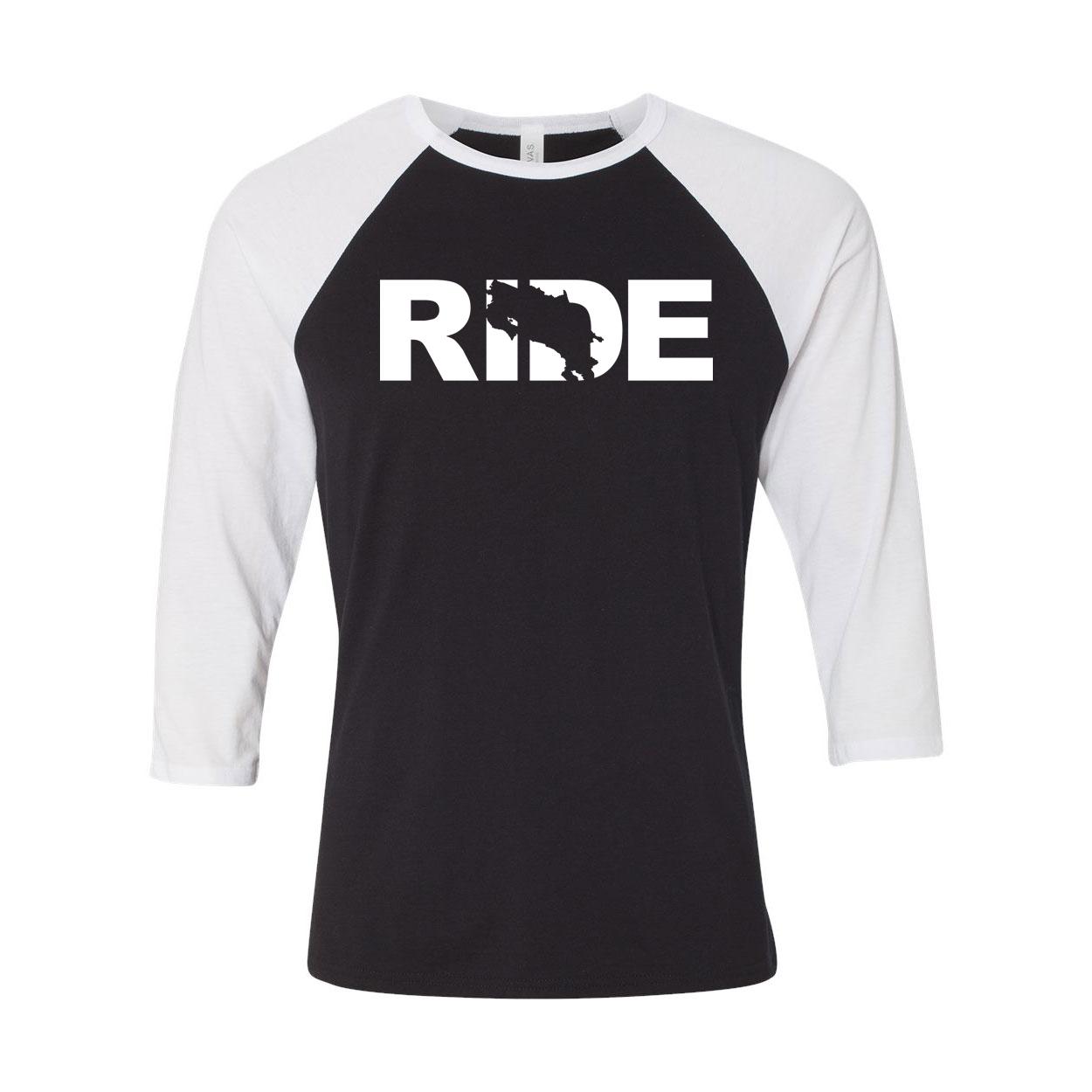 Ride Costa Rica Classic Raglan Shirt Black/White (White Logo)