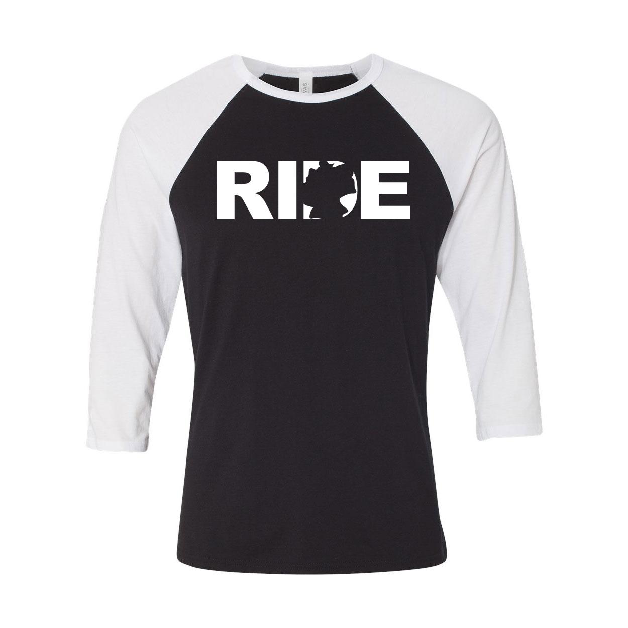 Ride Germany Classic Raglan Shirt Black/White (White Logo)